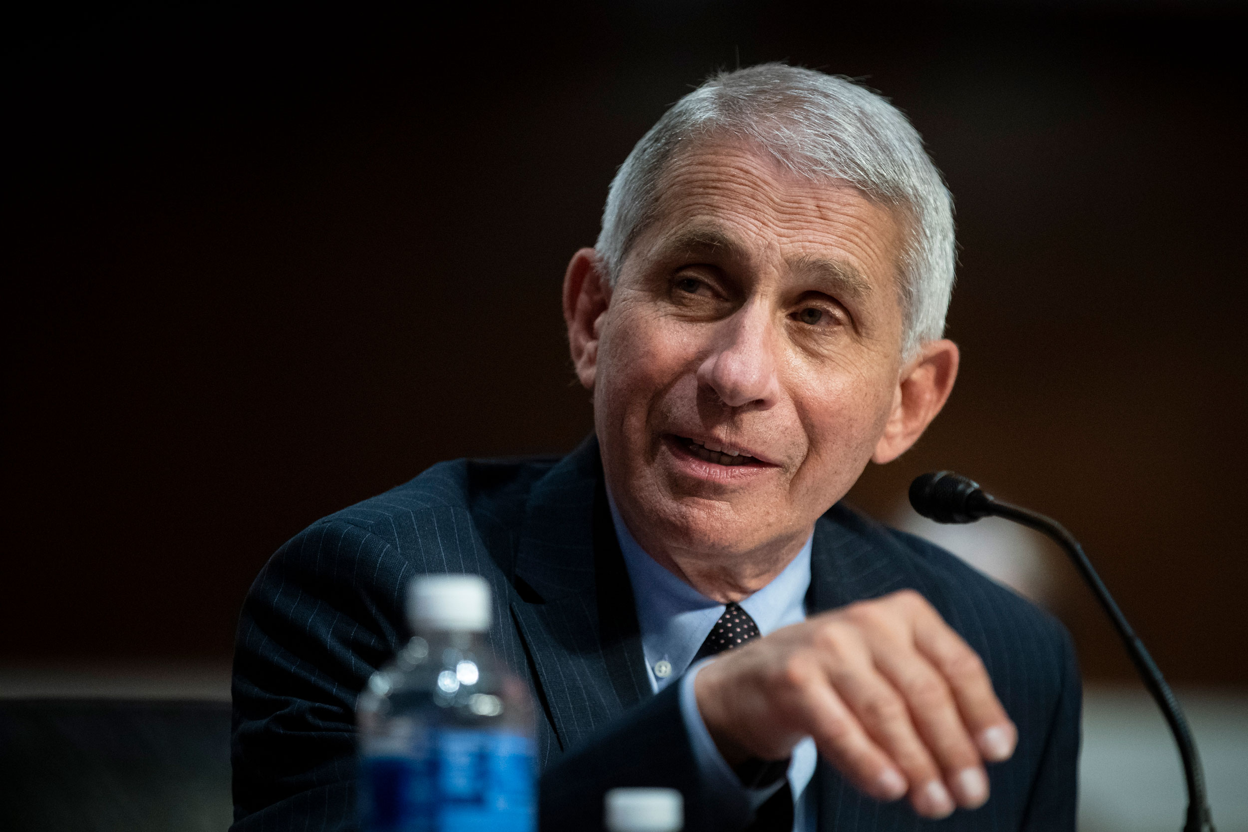 Dr. Anthony Fauci, director of the National Institute of Allergy and Infectious Diseases, speaks during a Senate Health, Education, Labor and Pensions Committee hearing on June 30 in Washington, DC.