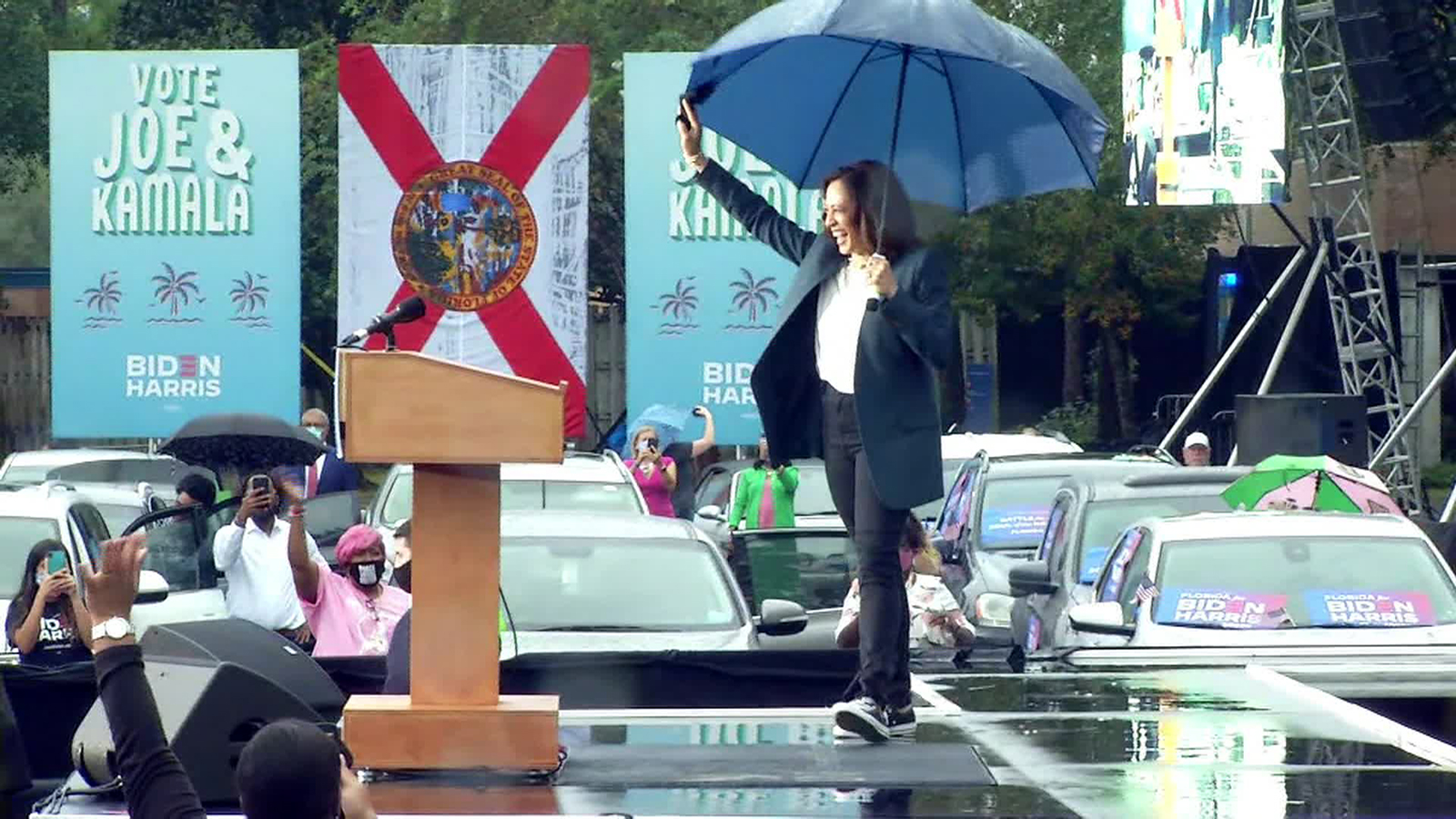 Vice Presidential candidate Kamala Harris in Jacksonville.