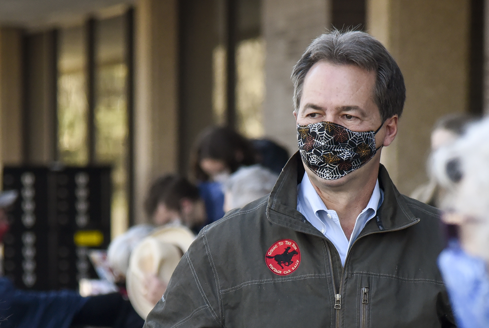 """Gov. Steve Bullock attends a Democratic Party """"Get Out The Vote"""" rally encouraging volunteers to go knock doors three days before Election Day, on Saturday, October 31, in Bozeman, Montana."""