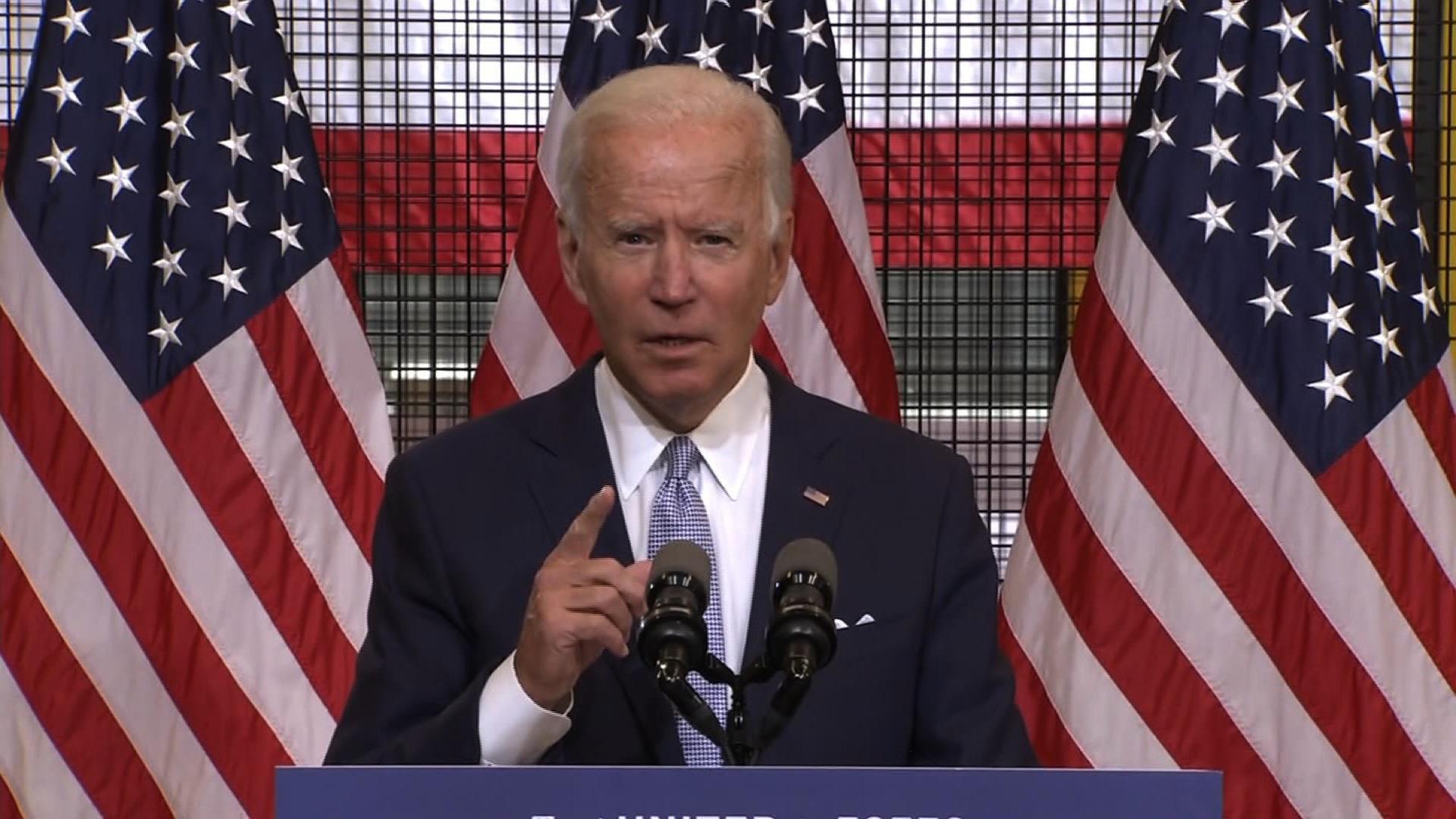 Democratic presidential nominee and former Vice President Joe Biden.