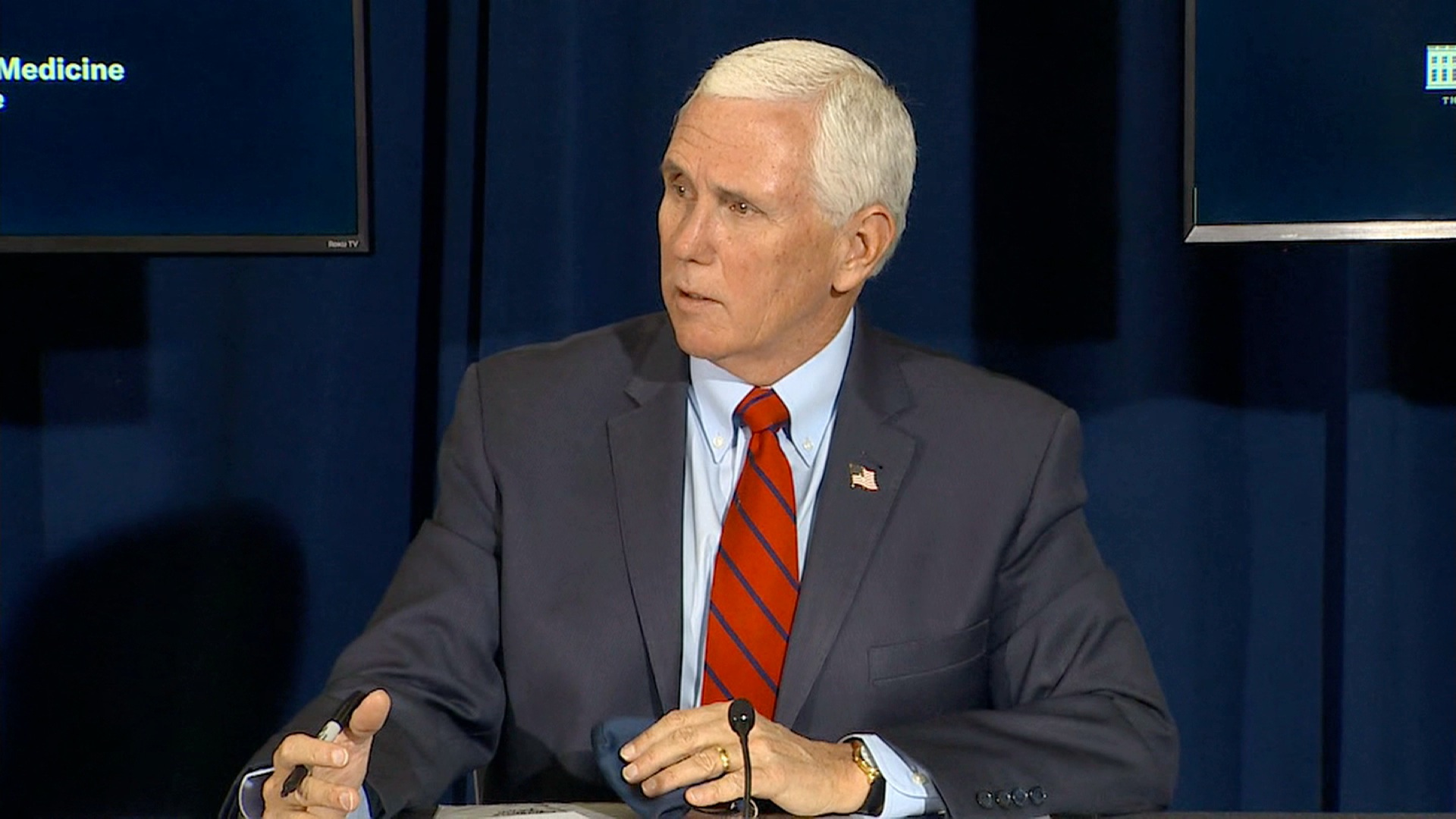 Vice President Mike Pence speaks during an Operation Warp Speed event in Greenville, South Carolina, on December 10.