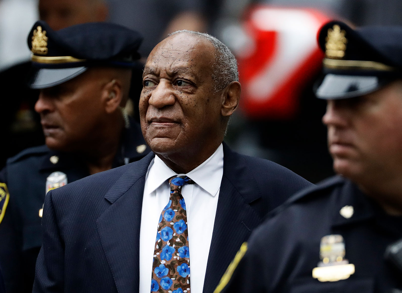 Bill Cosby arrives at the Montgomery County courthouse for his sentencing hearing in 2018.