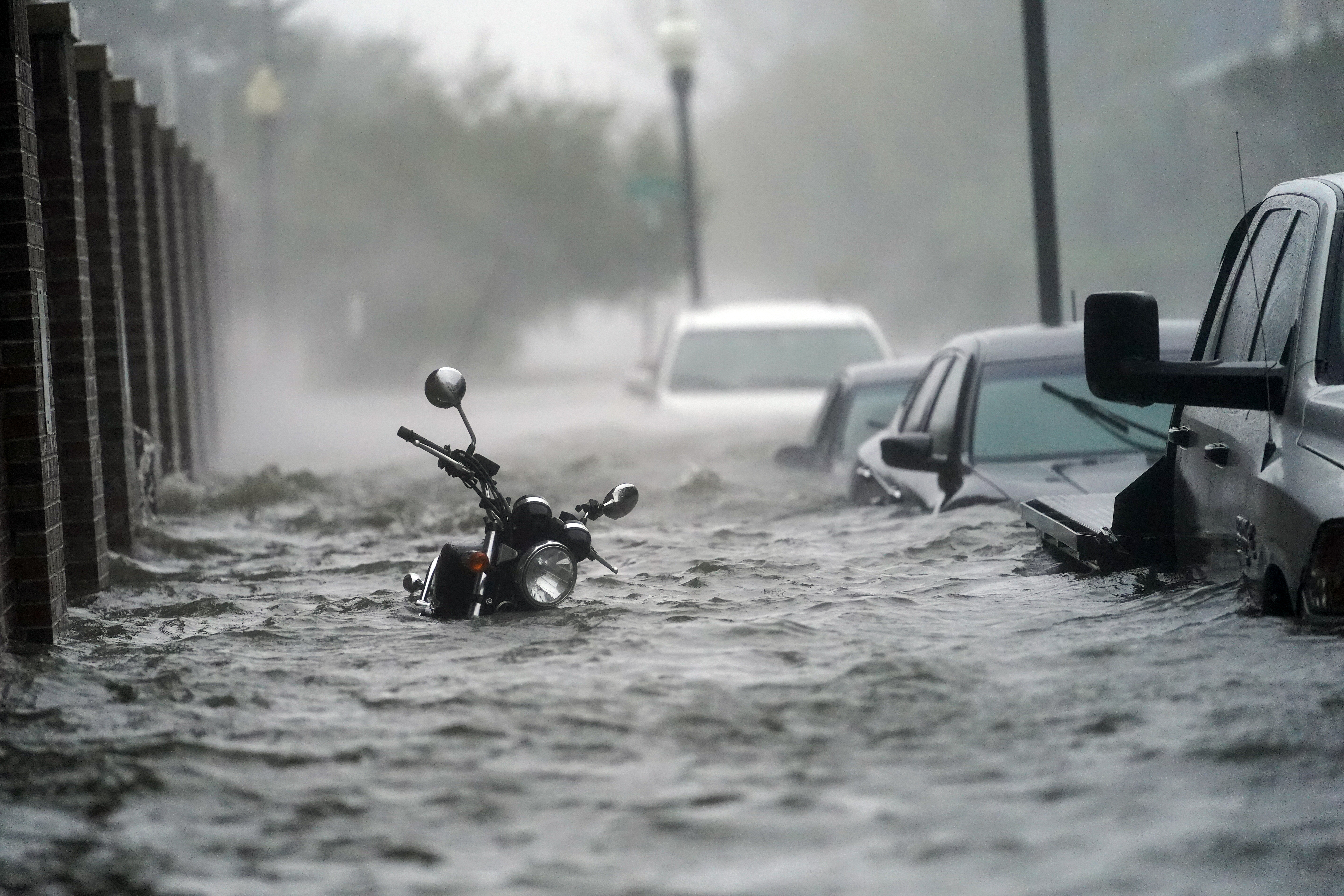 A street is flooded in Pensacola, Florida, on September 16.