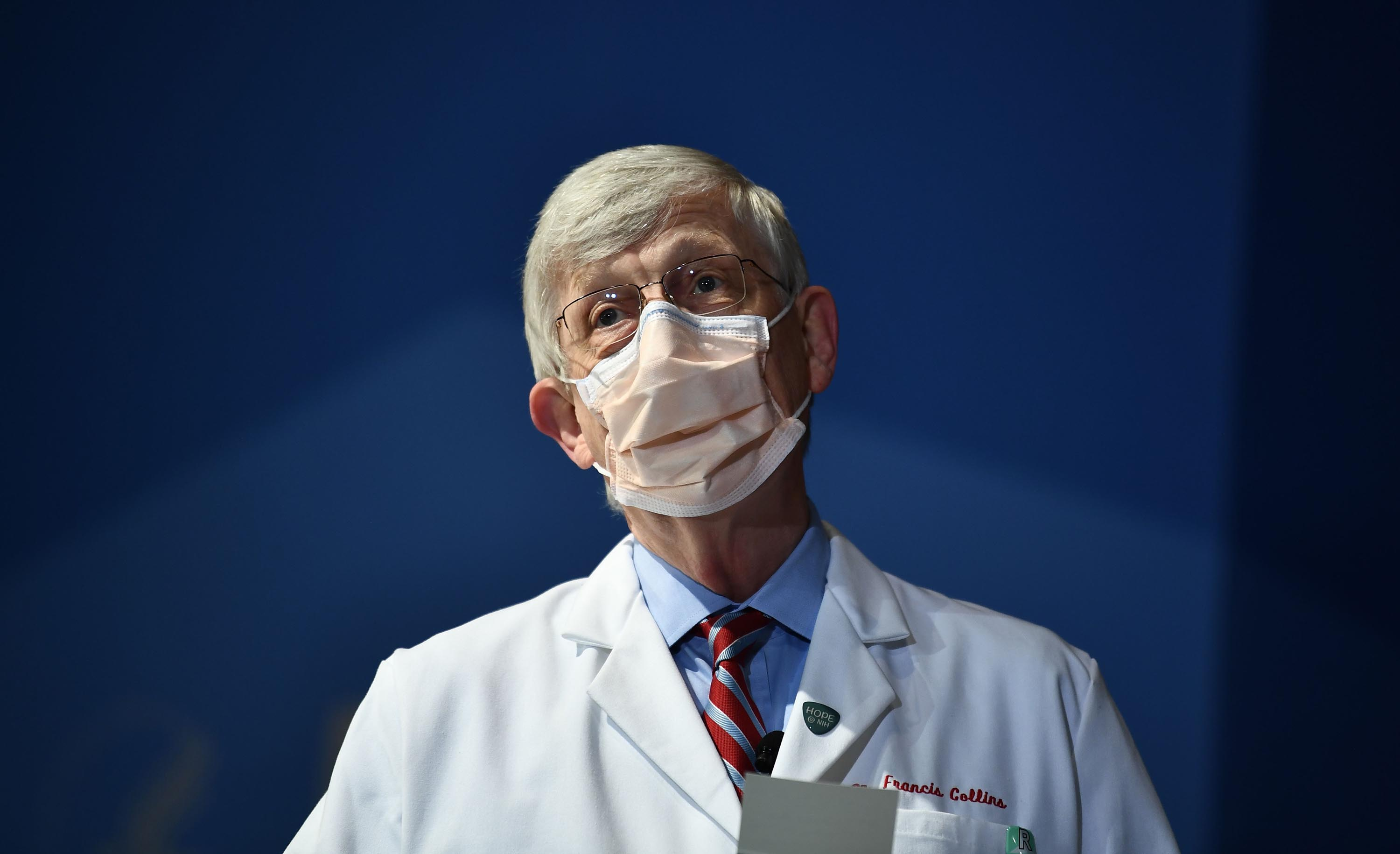 Dr. Francis Collins, director of the National Institutes of Health, is pictured in Bethesda, Maryland, on January 26.