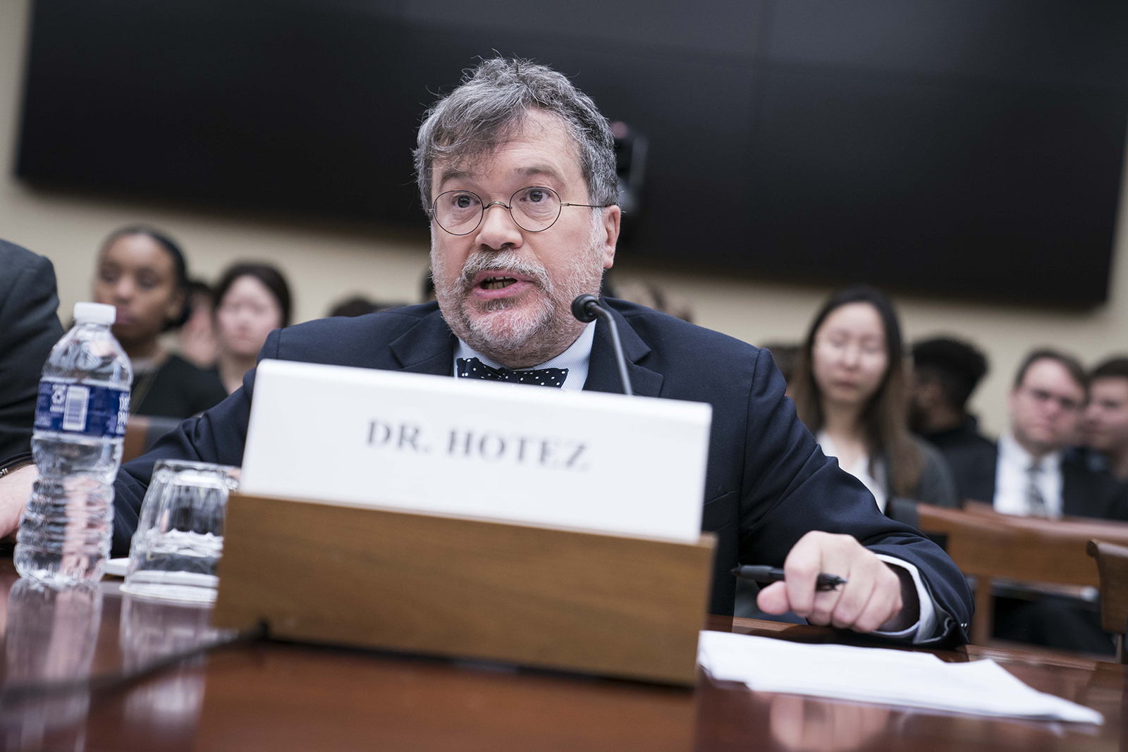 Peter Hotez, founding dean and chief of the Baylor College of Medicine National School of Tropical Medicine, speaks during a hearing on Capitol Hill in Washington, DC on March 5.