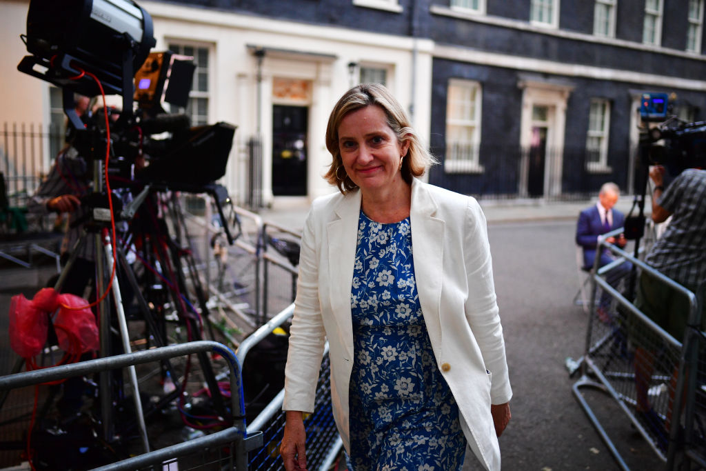 Amber Rudd, Johnson's Work and Pensions Secretary.