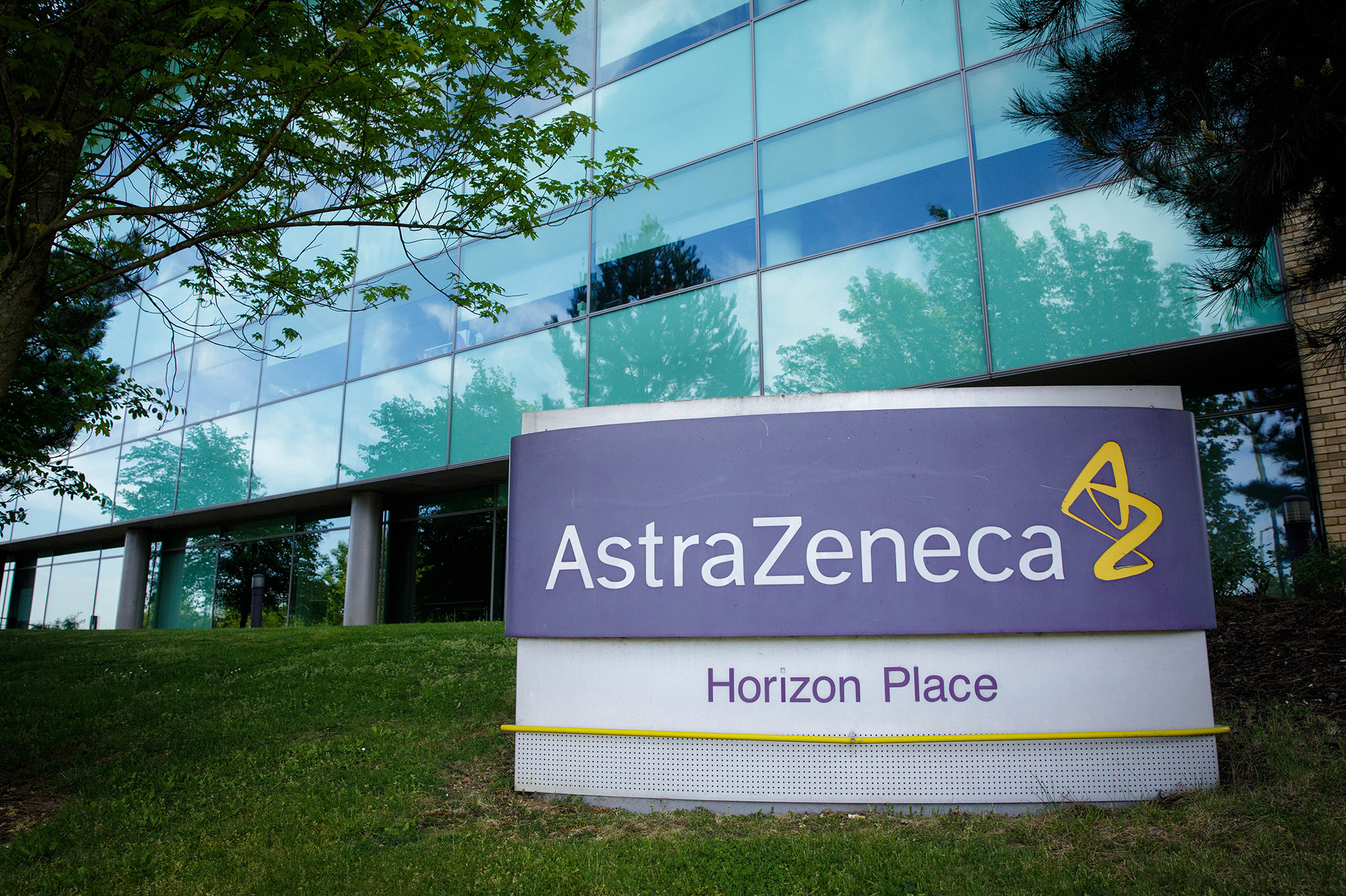 AstraZeneca's building in Luton, England on May 18.