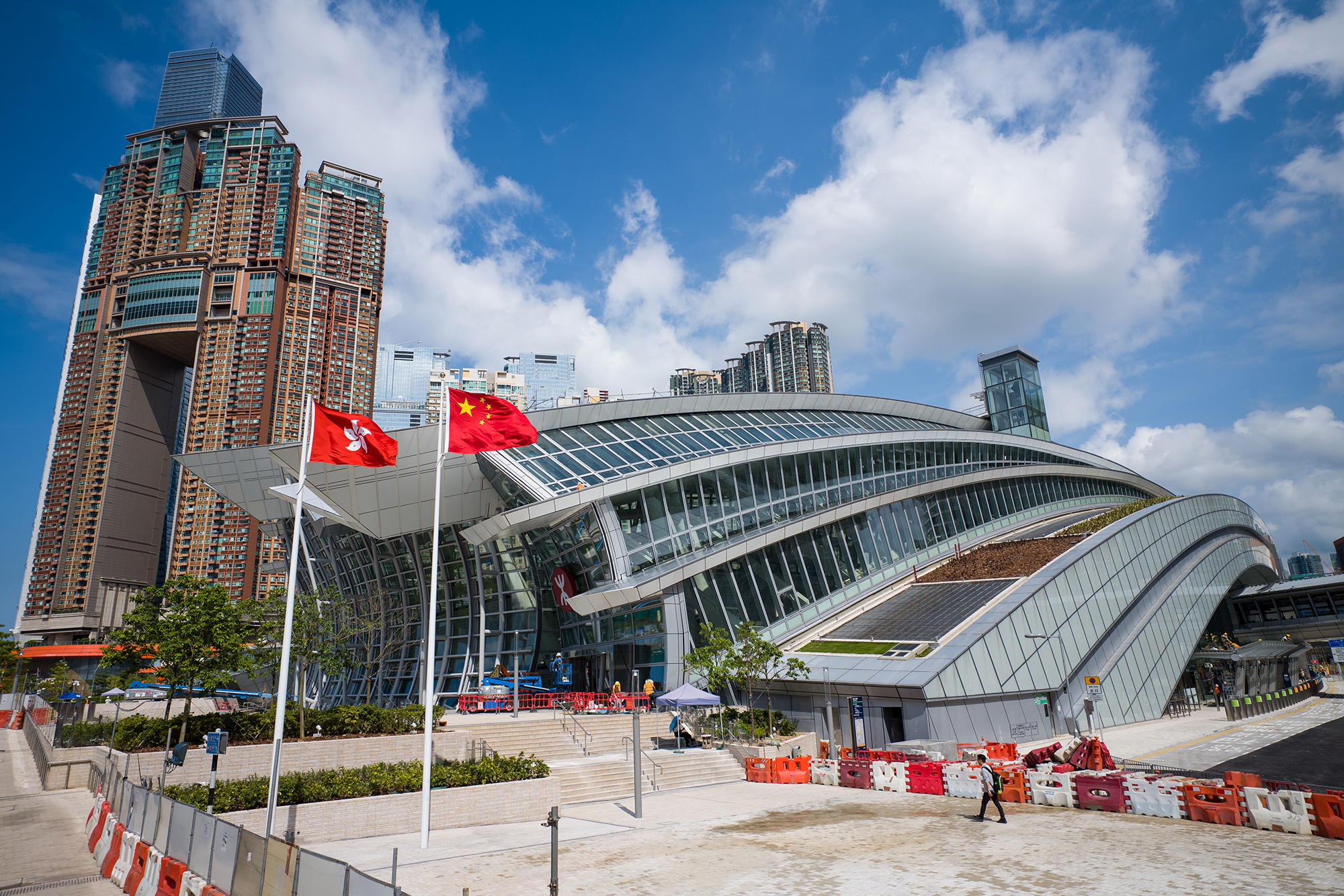 The West Kowloon train station in Hong Kong on September 10, 2018.