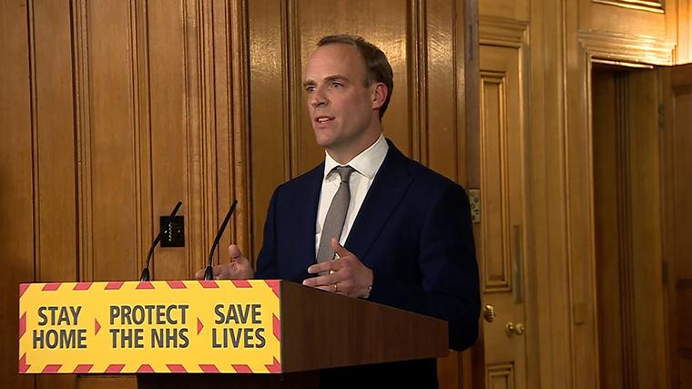Dominic Raab, the UK's Foreign Secretary