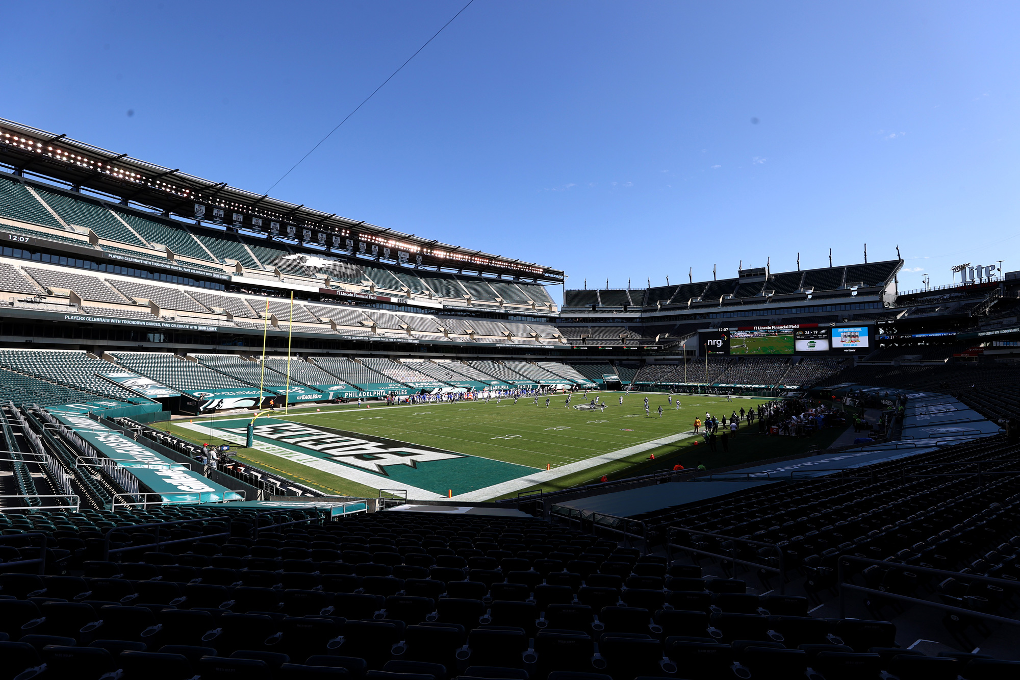 Lincoln Financial Field is seen on September 20 in Philadelphia, Pennsylvania.