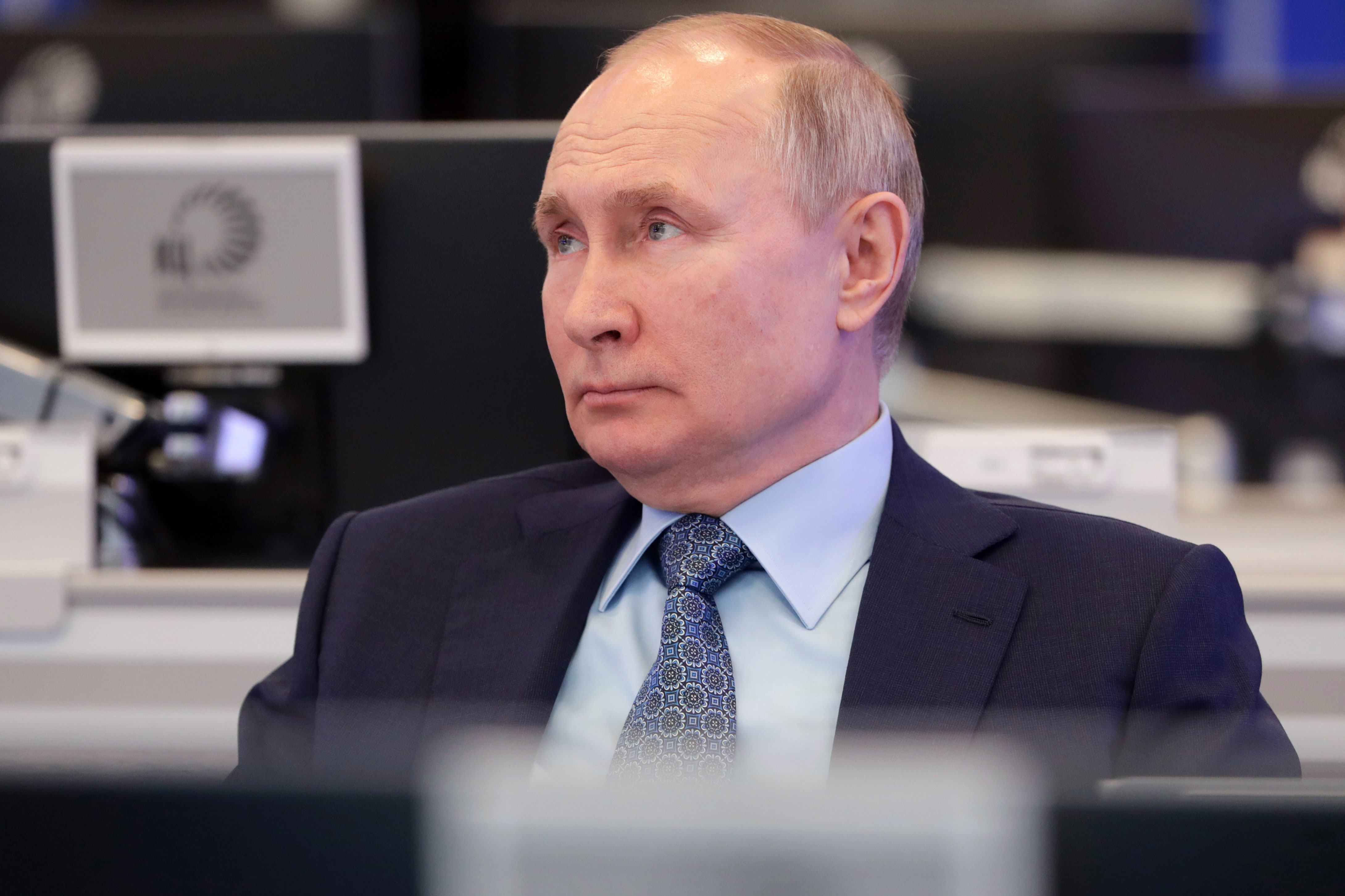 Russian President Vladimir Putin in Moscow on April 13.