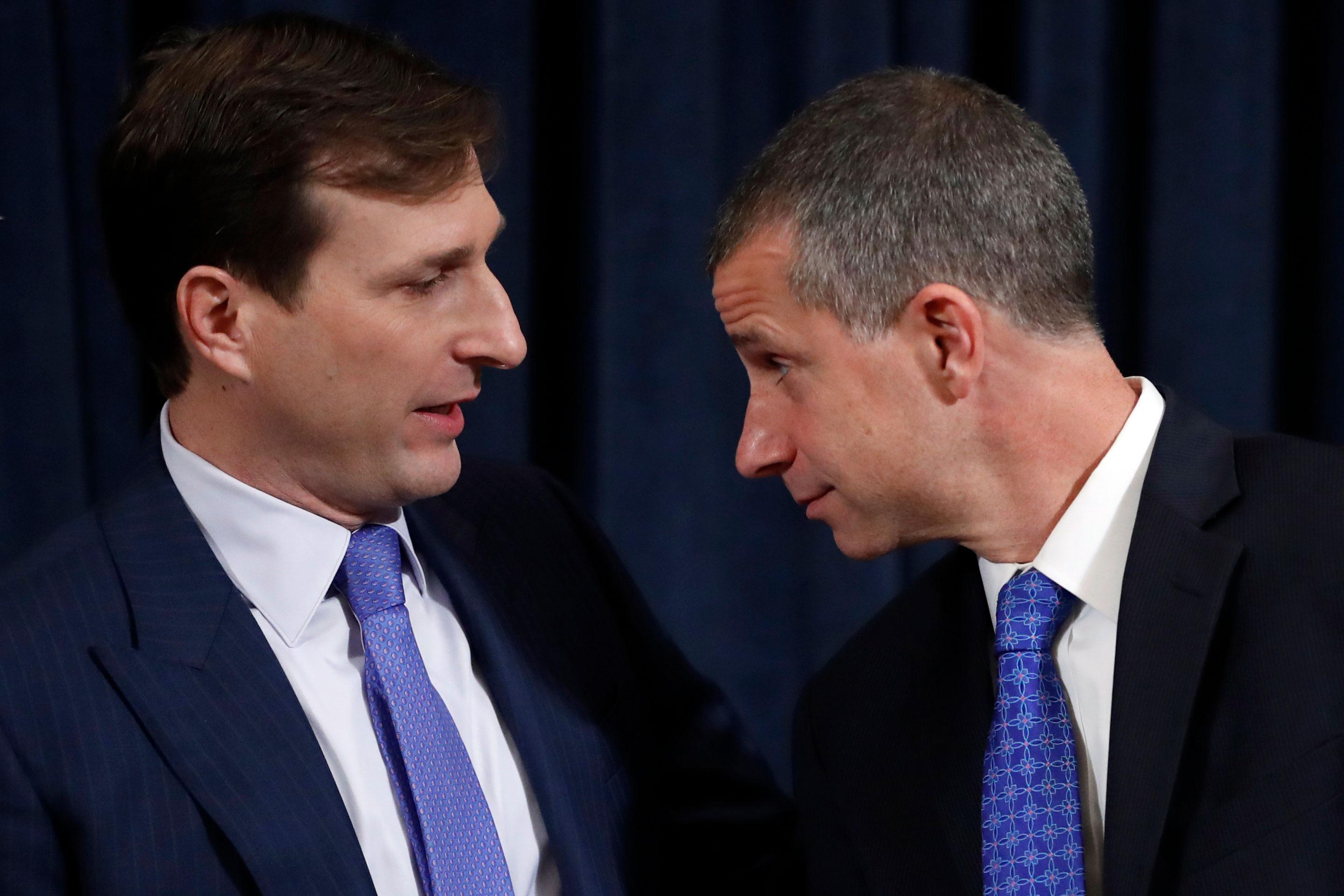 Goldman, left, and Castor, right.