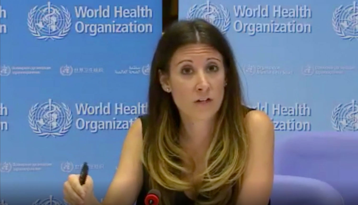 Dr. Maria van Kerkhove speaks during a World Health Organization briefing on April 29.
