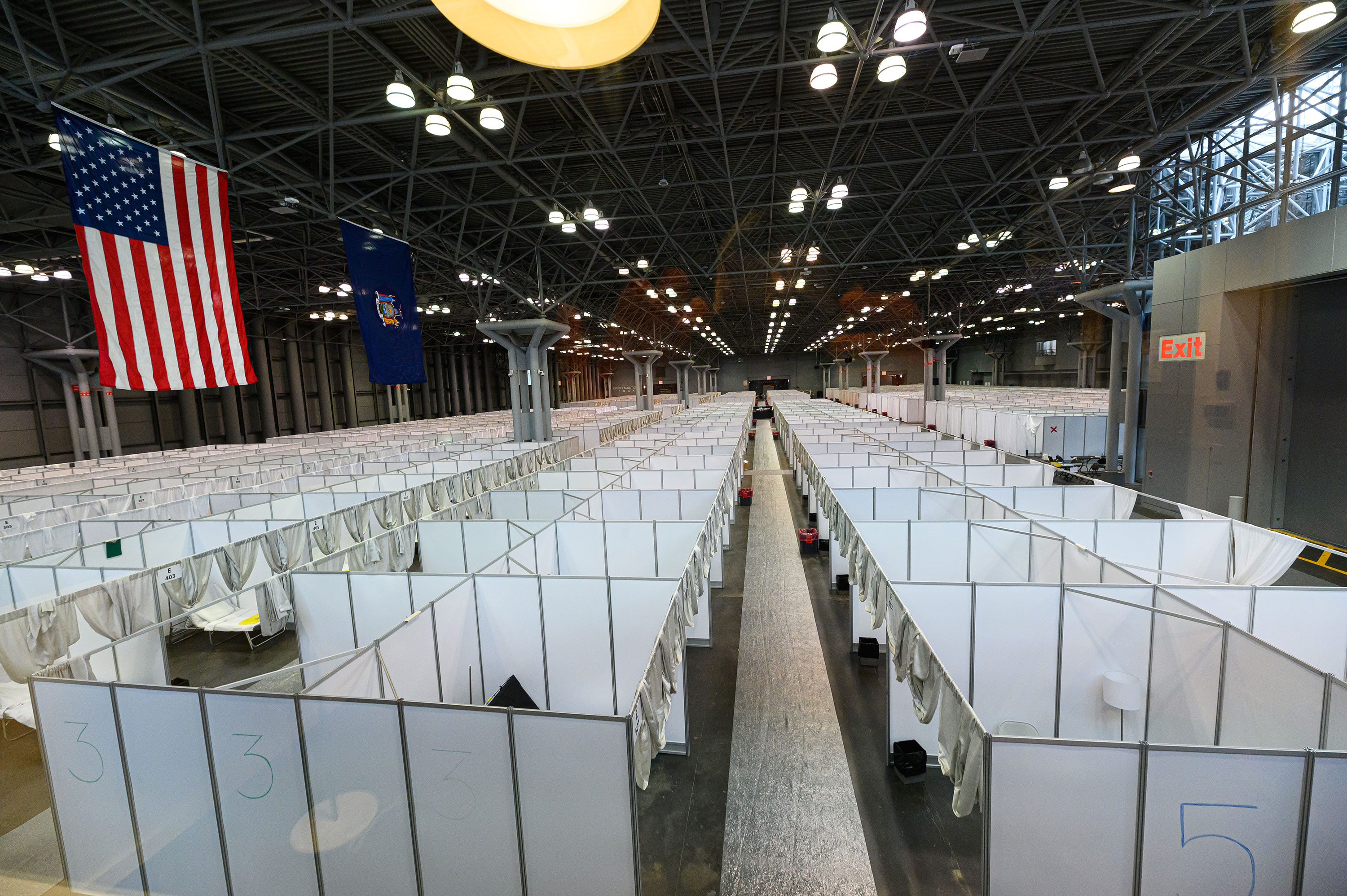 The temporary hospital at the Jacob Javits Convention Center in New York on March 30.