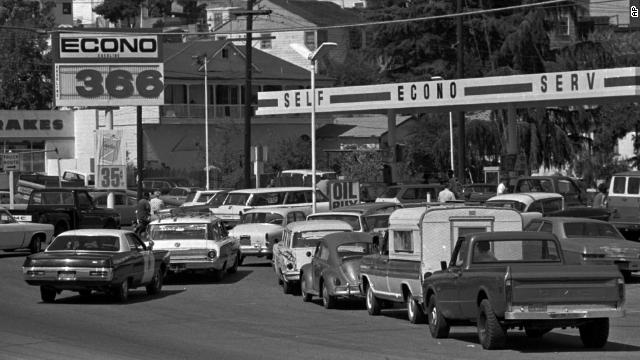 Scenes like this one in Martinez, California, were common in September 1973.