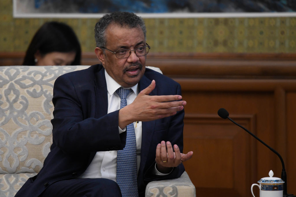 Tedros Adhanom Ghebreyesus, seen here speaking on January 28 in Beijing, reiterated on Saturday that the window of opportunity to contain the virus is narrowing.