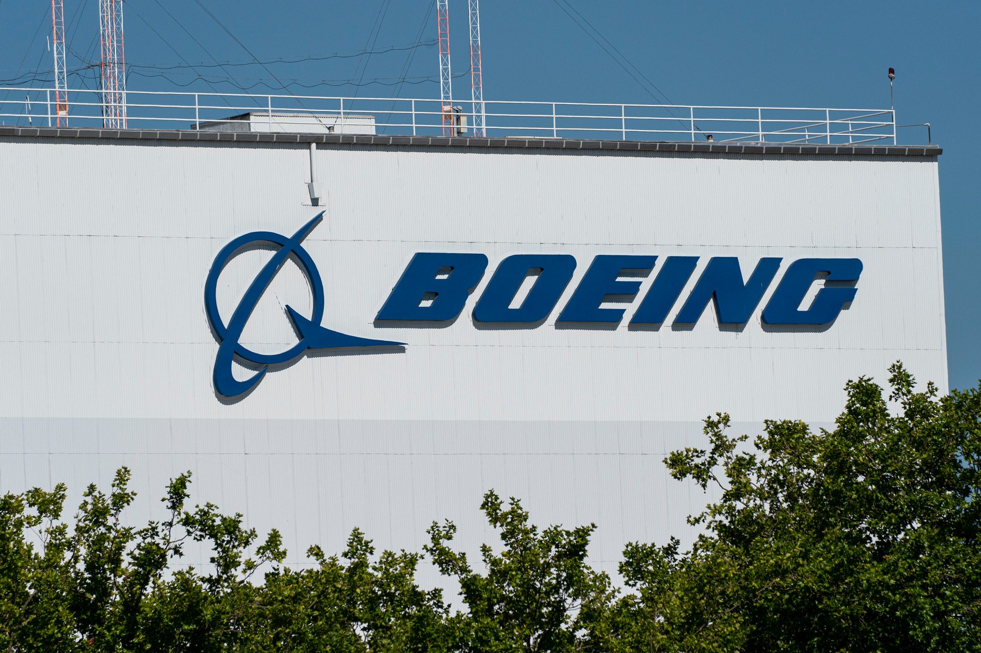 The exterior of the Boeing facility is shown at Boeing Field on July 28 in Seattle.