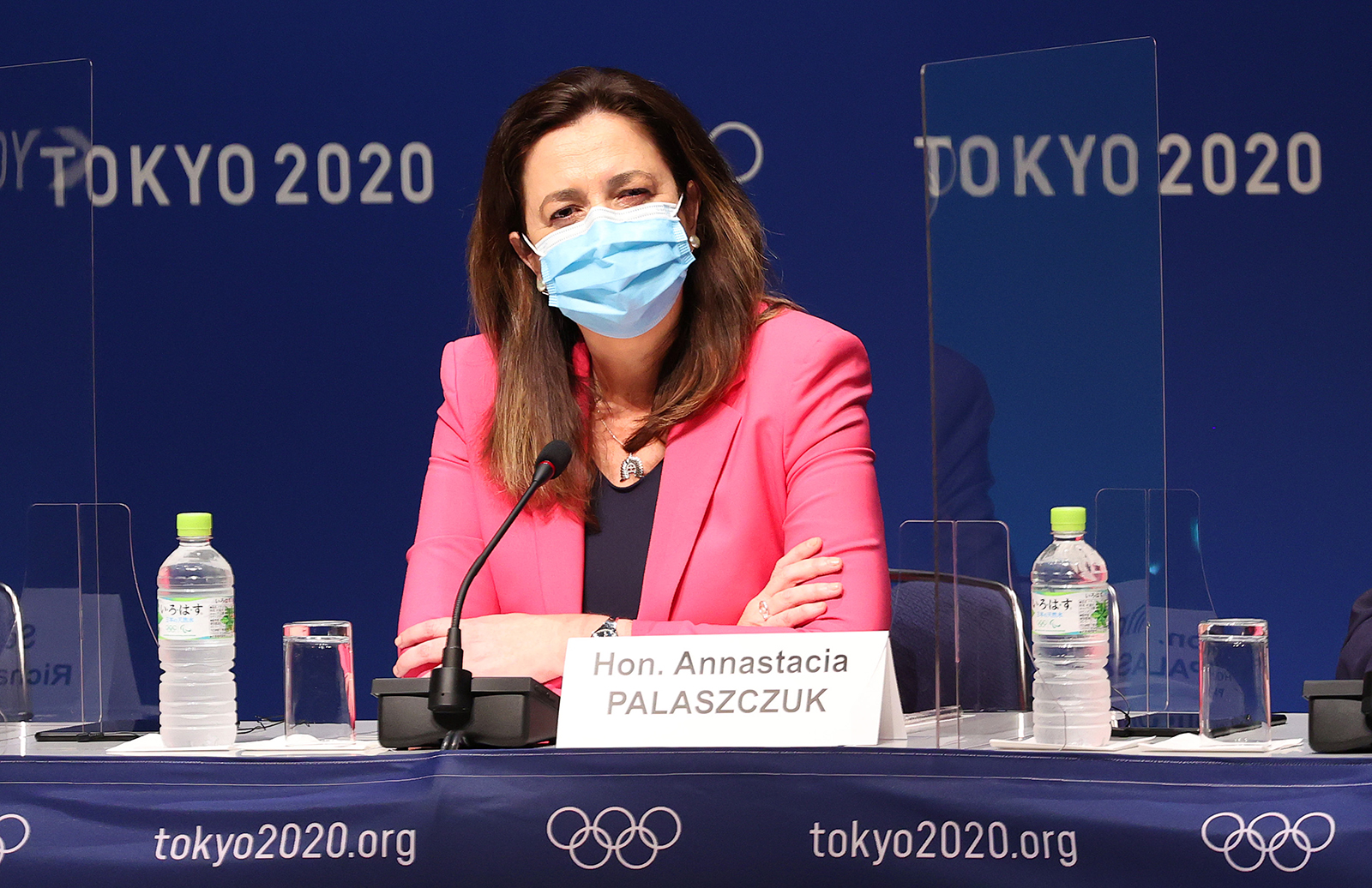 Queensland Premier Annastacia Palaszczuk during the IOC news conference ahead of the Tokyo 2020 Olympic Games on July 21, in Tokyo, Japan.