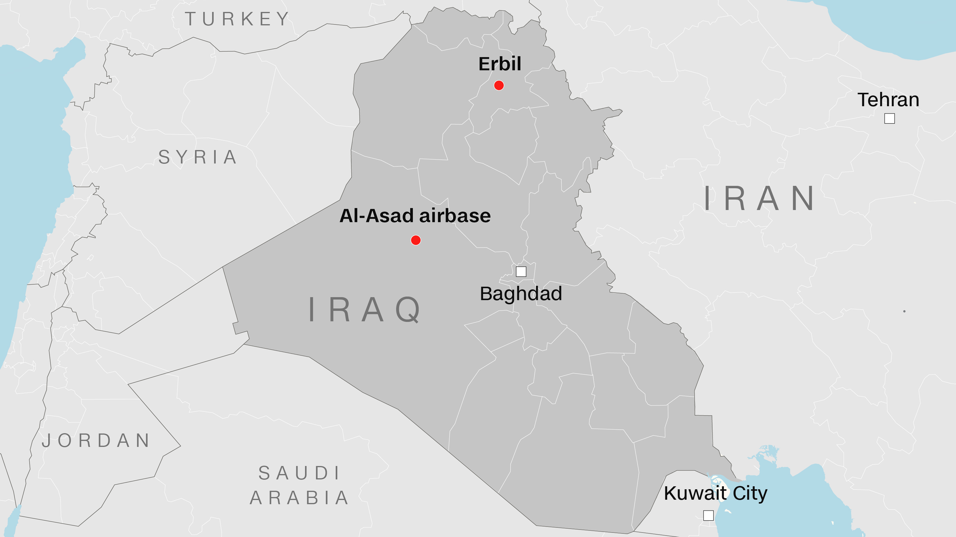 The Iranian strikes targeted bases in Iraq that house US troops.