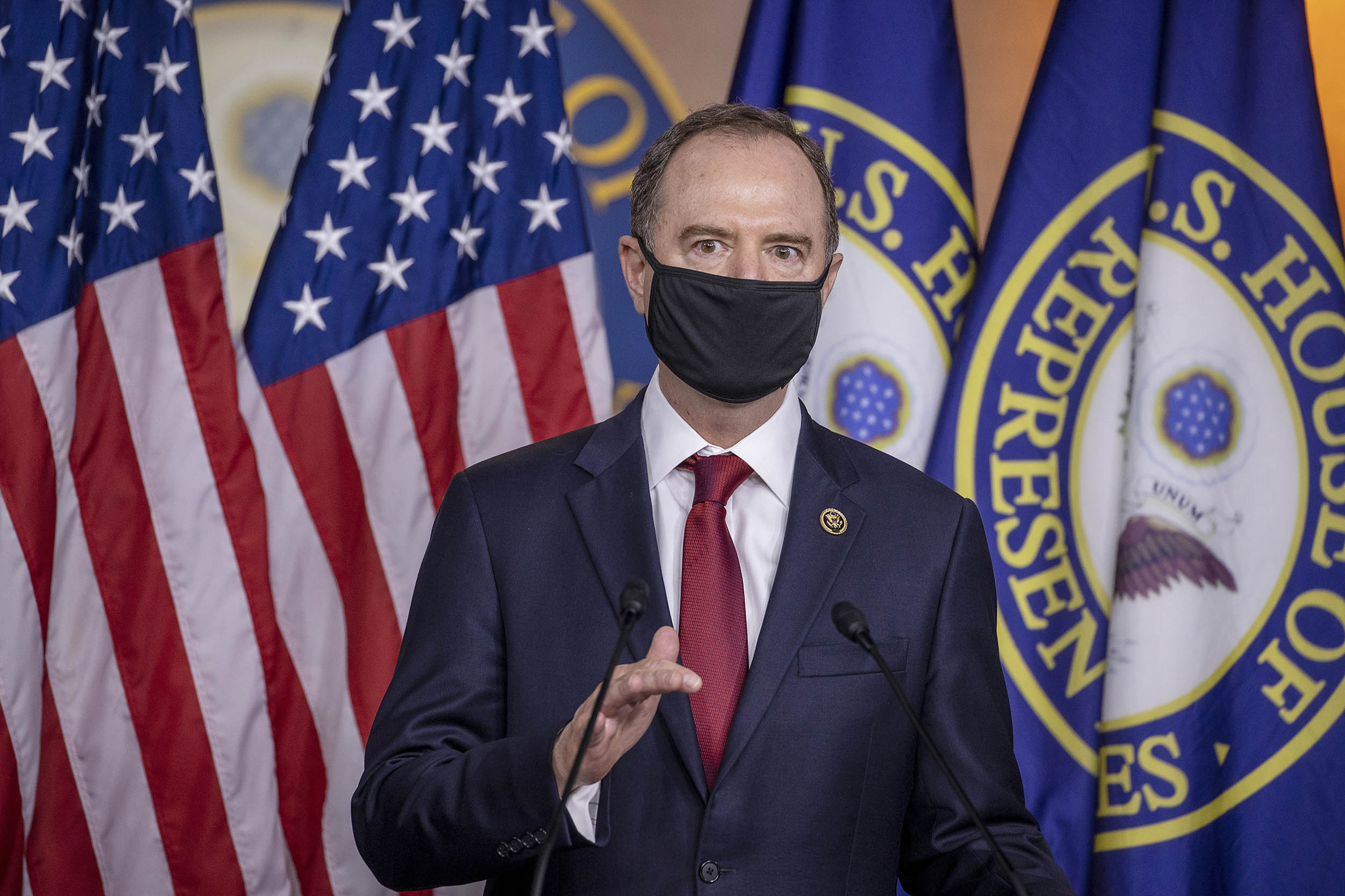 Rep. Adam Schiff (D-CA) speaks at a press conference on Capitol Hill on June 30, in Washington, DC.
