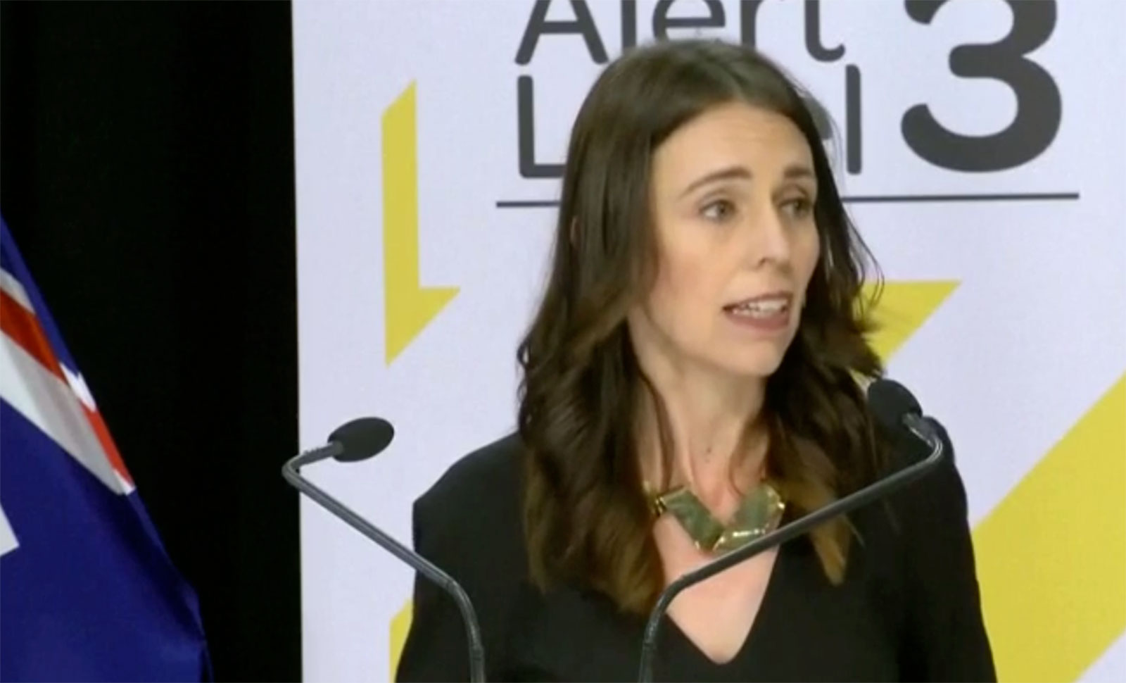New Zealand Prime Minister Jacinda Ardern speaks at a news conference on May 11.