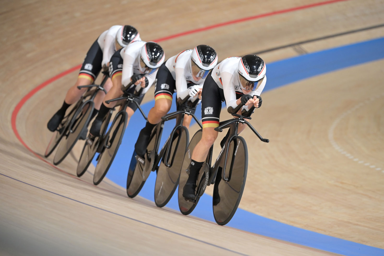 The German women's team set a world record in track cycling pursuit on August 2.
