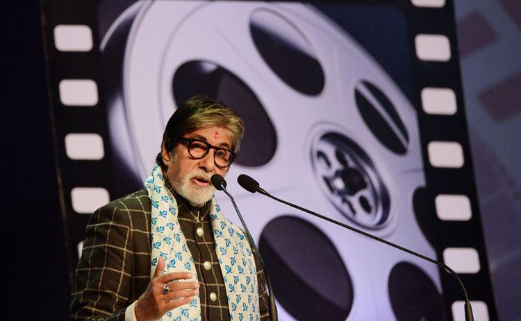 Actor Amitabh Bachchan speaks during the inauguration of the 24th Kolkata International Film Festival in Kolkata on November 10, 2018.