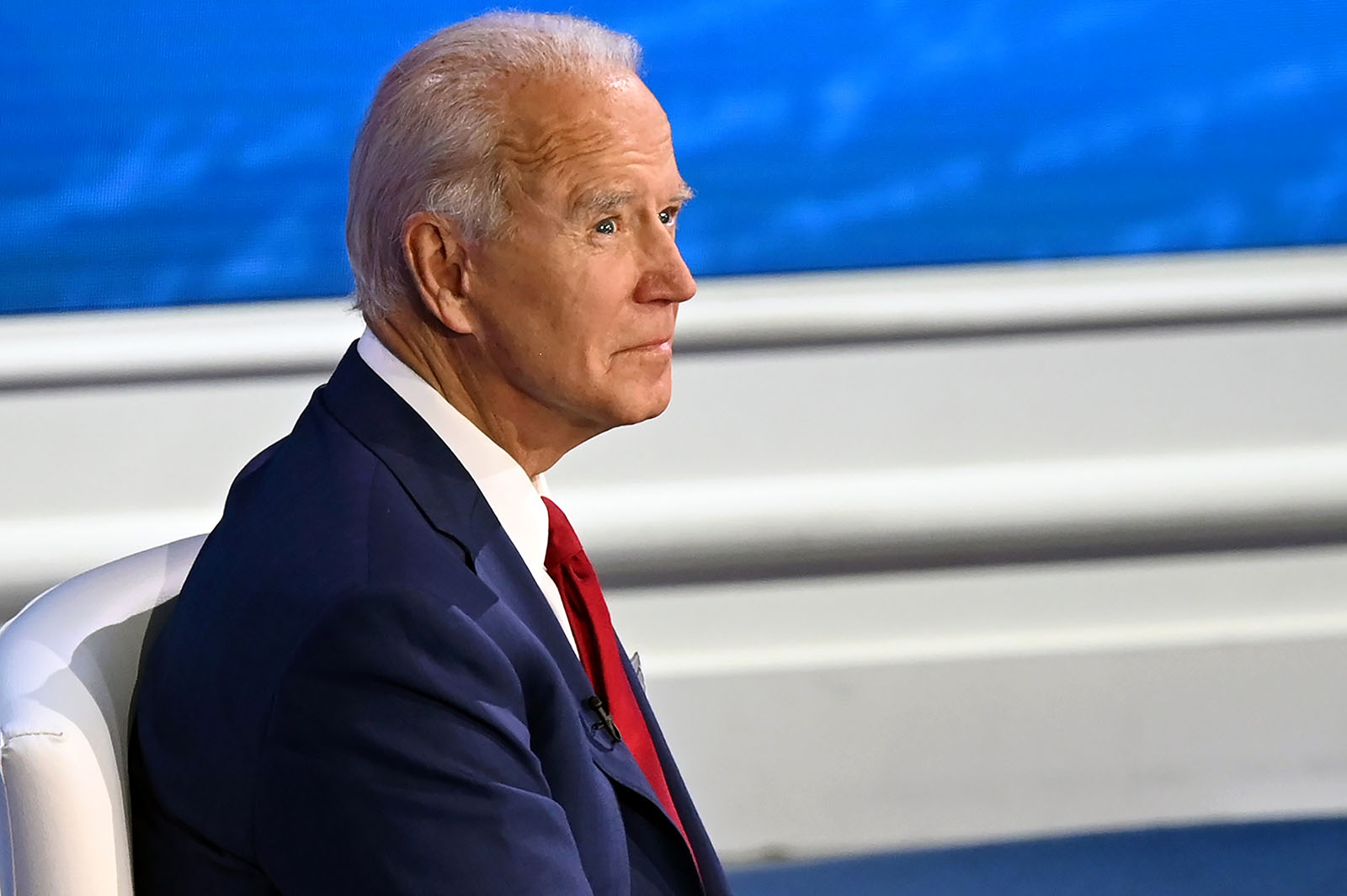 Democratic Presidential candidate Joe Biden participates in an ABC News town hall event at the National Constitution Center in Philadelphia on October 15.