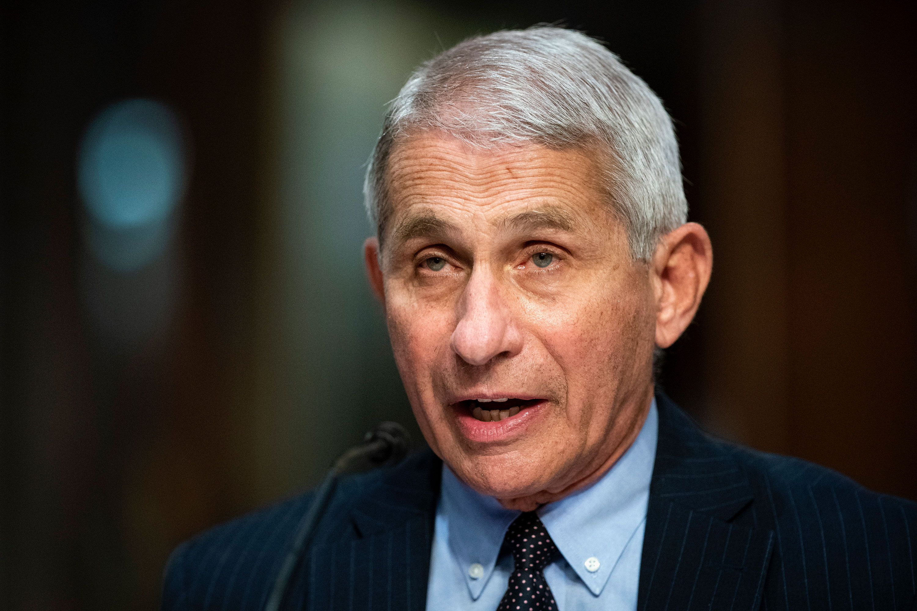 Director of the National Institute of Allergy and Infectious Diseases Dr. Anthony Fauci speaks during a Senate Health, Education, Labor and Pensions Committee hearing on June 30 in Washington, DC.