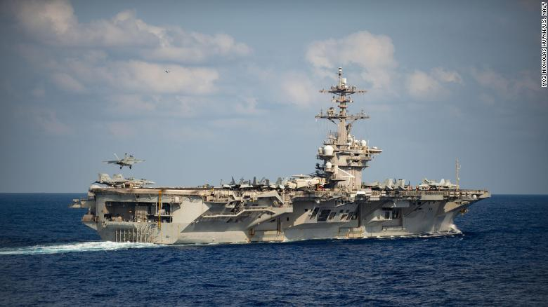 USS Theodore Roosevelt on March 18 in the Philippine Sea.