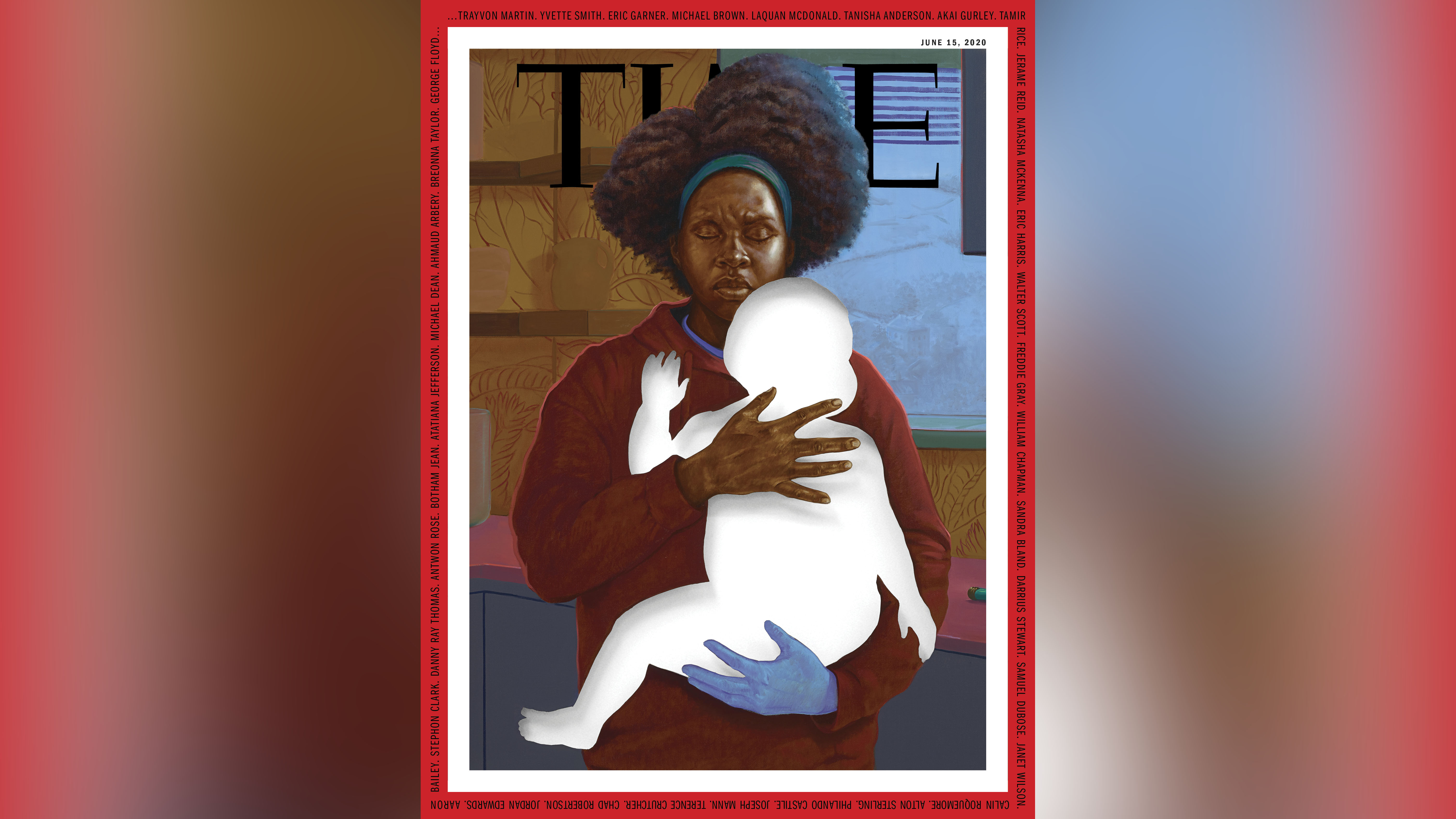 """The June issue of Time Magazine. The issue, """"A Nation Torn,"""" is a special report on the protests surrounding the death of George Floyd. The cover features a painting byartist Titus Kaphar."""