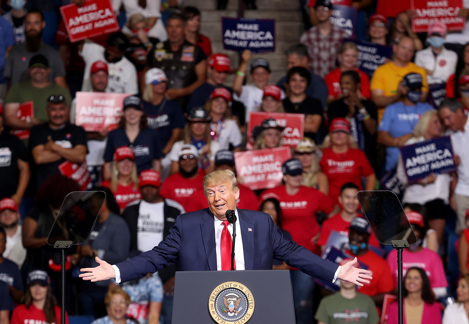 US President Donald Trump speaks at a campaign rally at the BOK Center, June 20, in Tulsa, Oklahoma.