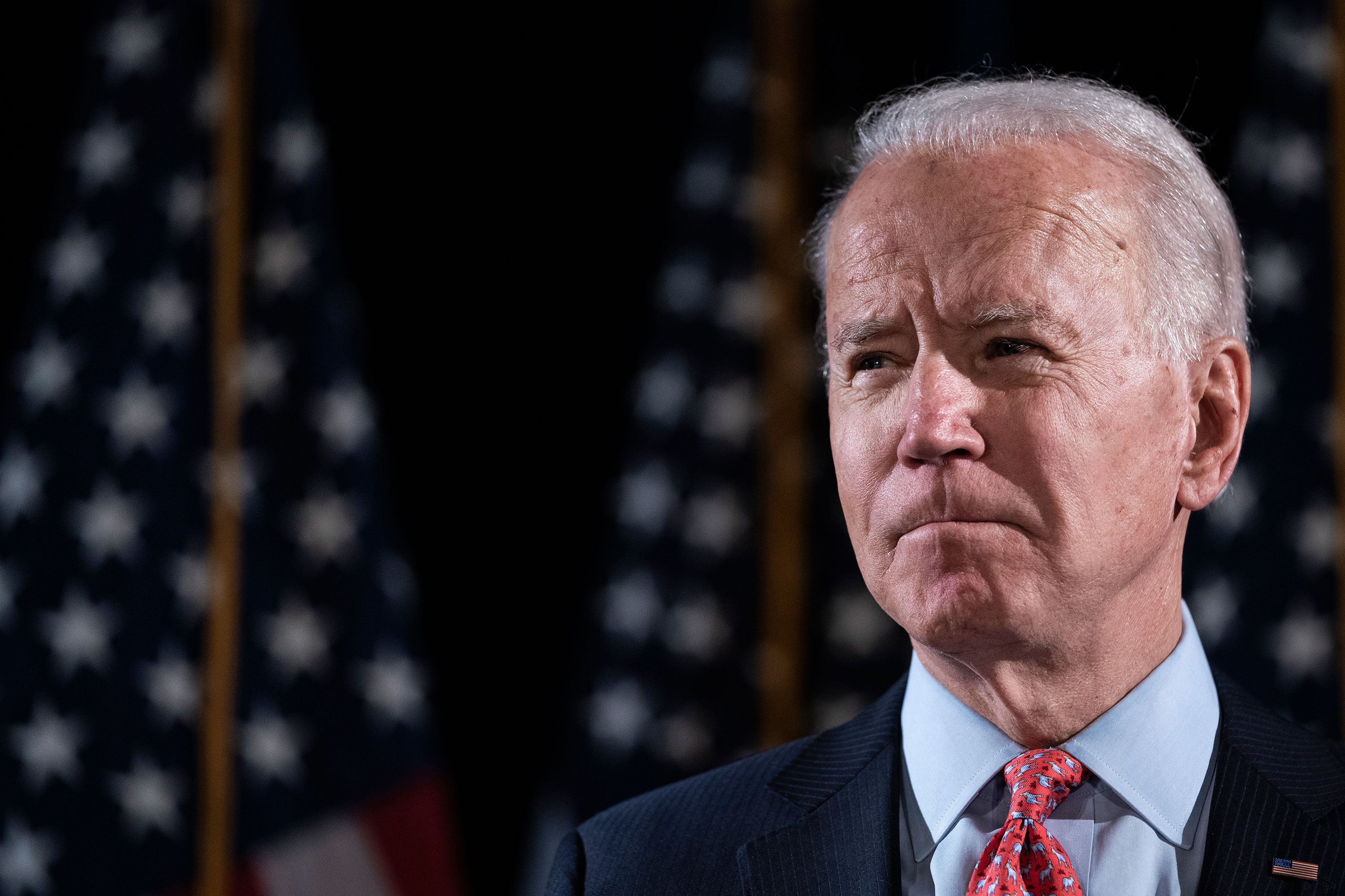 Joe Biden delivers remarks about the coronavirus outbreak, in Wilmington, Delaware, on March 12.