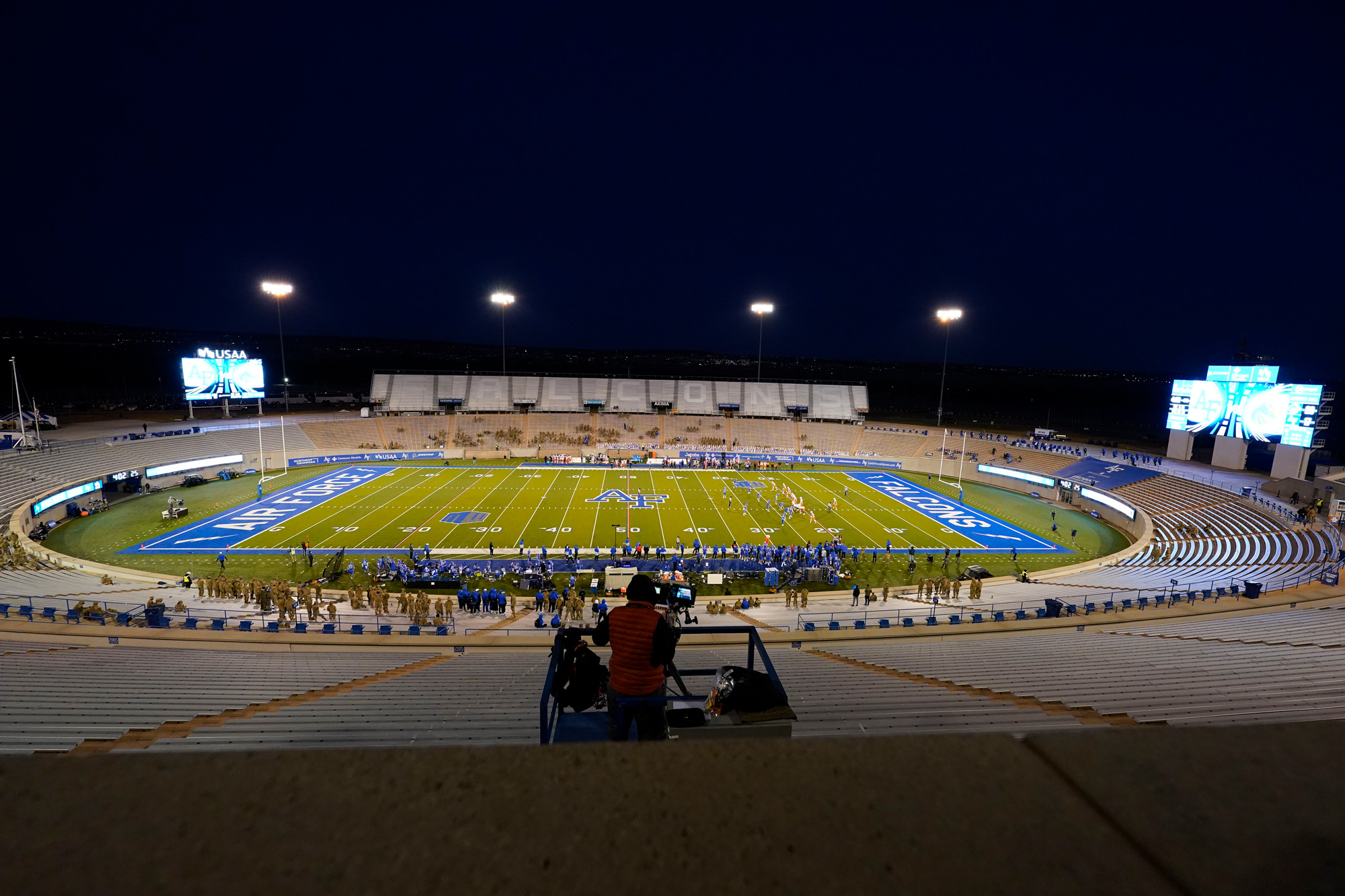 Falcon Stadium is seen on October 31 at Air Force Academy, Colorado.