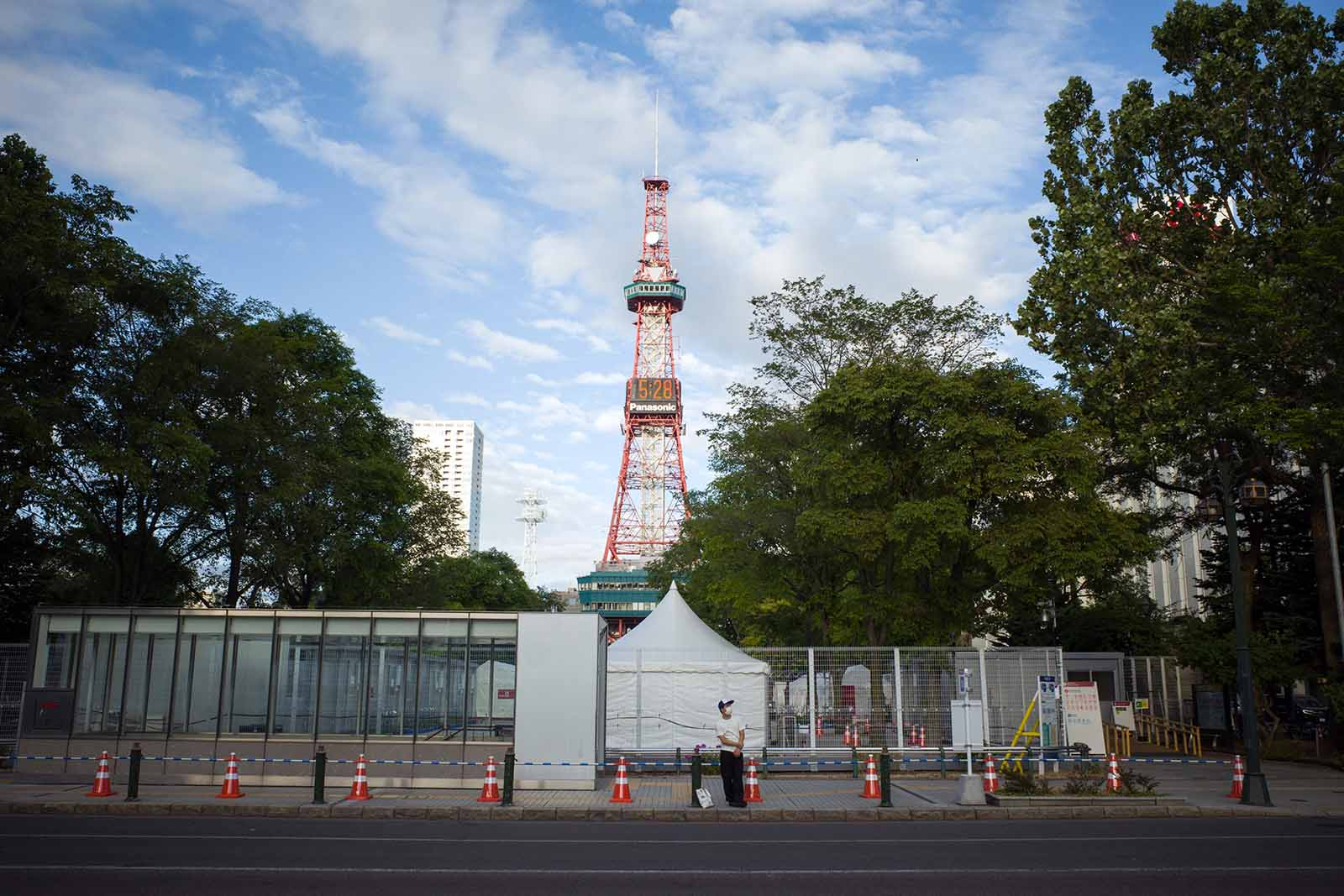 The site of the Tokyo Olympic marathon and competitive walking events is pictured in Sapporo, Japan, on August 3.