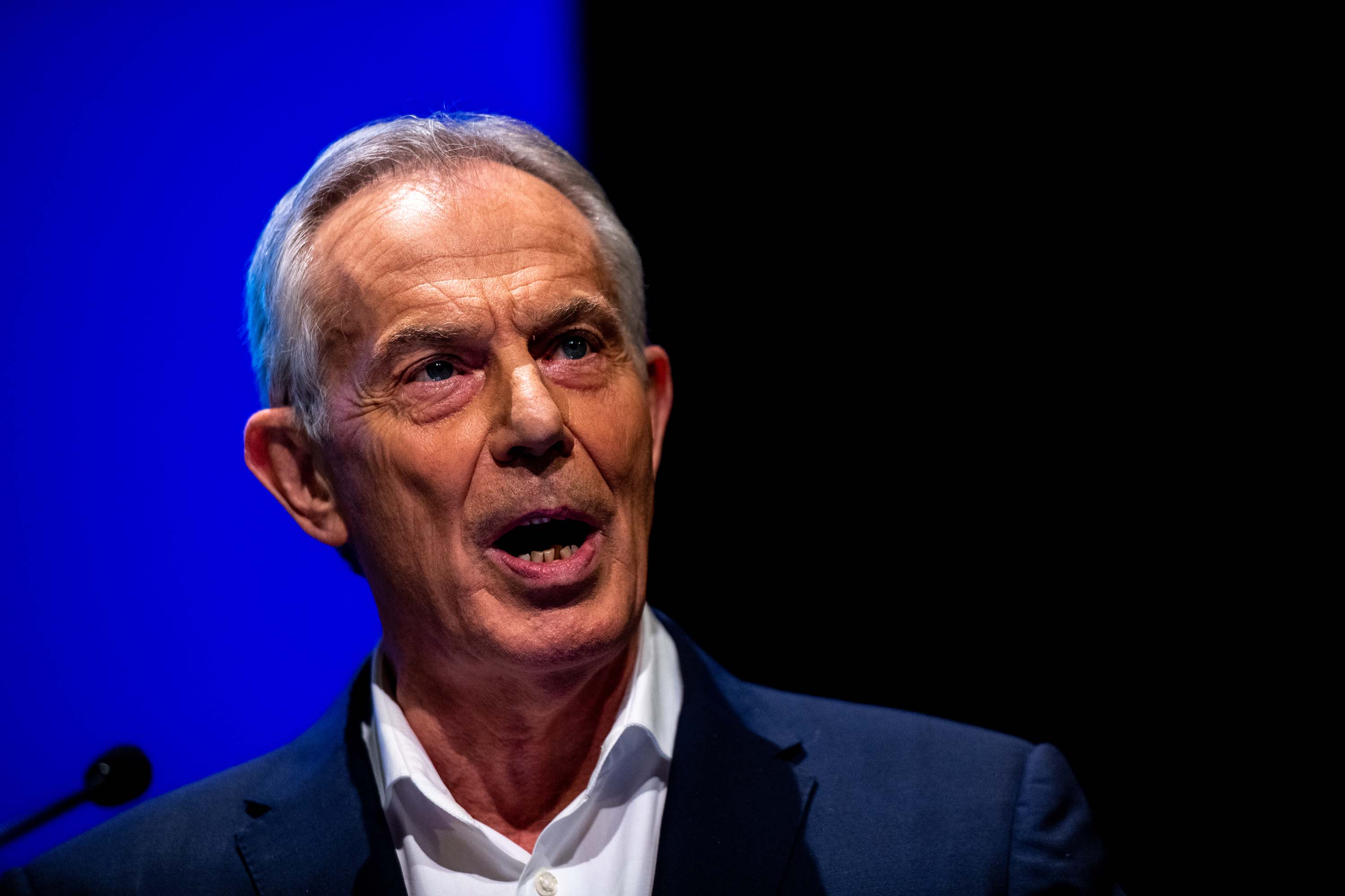 Former British Prime Minster Tony Blair speaks at an event in London in December 2019.