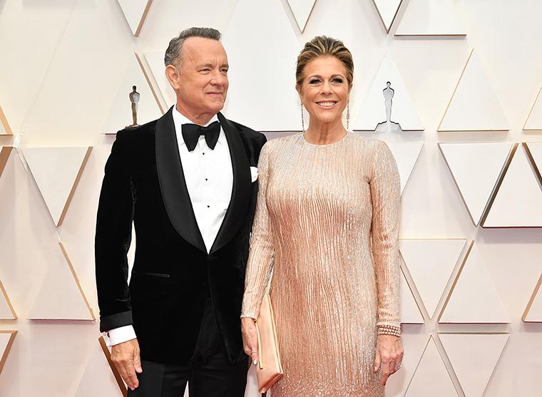 Actor Tom Hanks and his wife, actress Rita Wilson