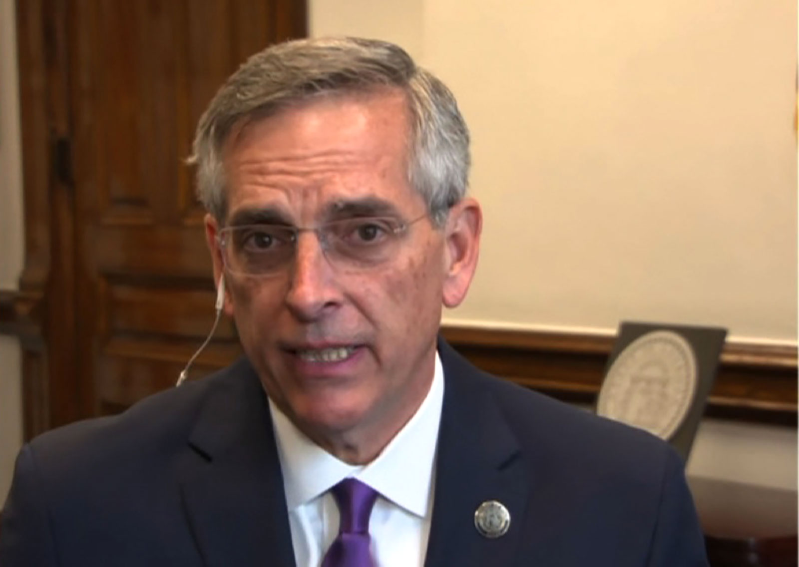 Georgia's Secretary of State Brad Raffensperger speaks with CNN on November 4.