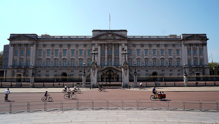 Buckingham Palace in central London on April 11.