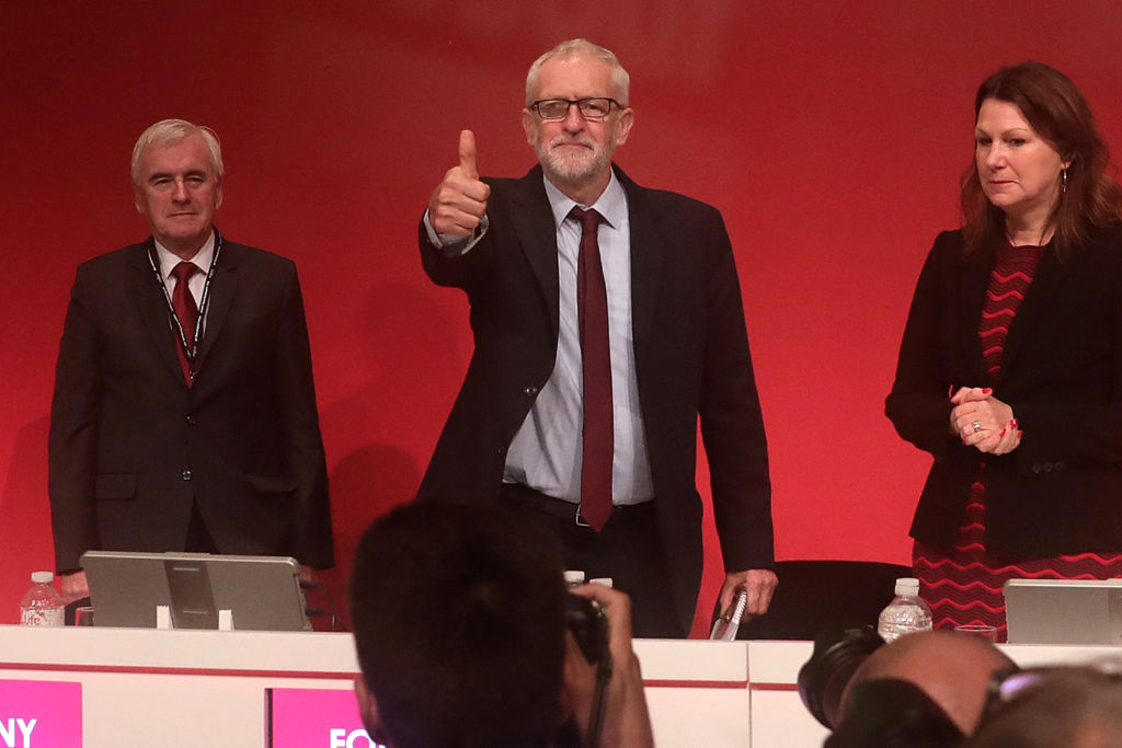 Corbyn at the Labour Party conference.