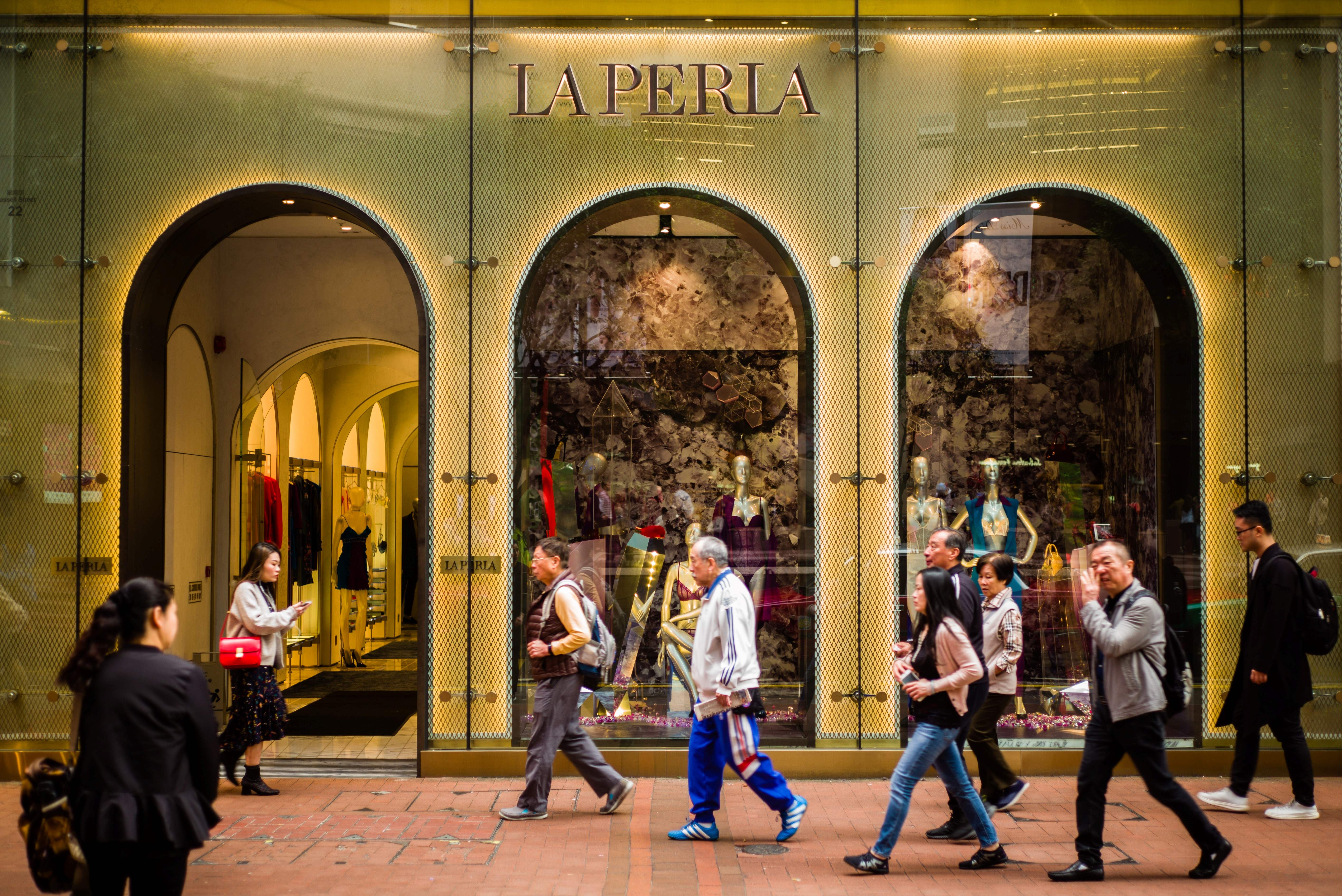 The Italian luxury lingerie brand La Perla in the Causeway Bay district of Hong Kong.