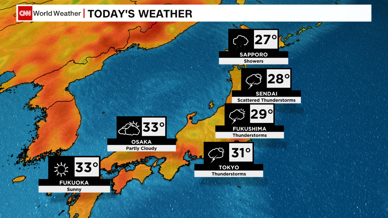Temperatures hit 31 degrees Celsius (88 degrees Fahrenheit) in Tokyo on Wednesday.
