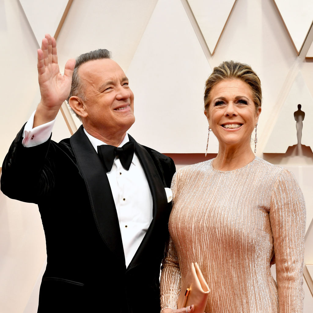 Tom Hanks and Rita Wilson at Hollywood and Highland on February 9 in Hollywood, California.
