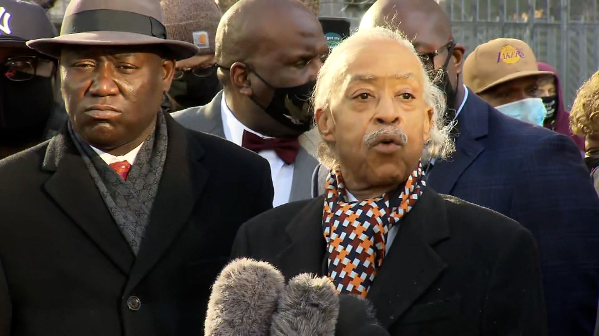 Reverend Al Sharpton speaks during a press conference in Minneapolis, Minnesota, on March 29.