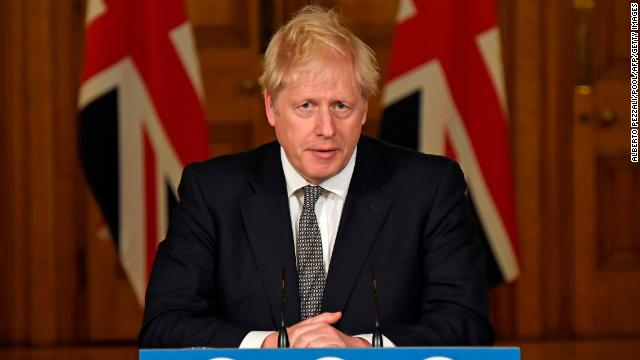 Britain's Prime Minister Boris Johnson speaks during a virtual press conference inside 10 Downing Street in central London on October 31, 2020 to announce new lockdown restrictions in an effort to curb rising infections of the novel coronavirus