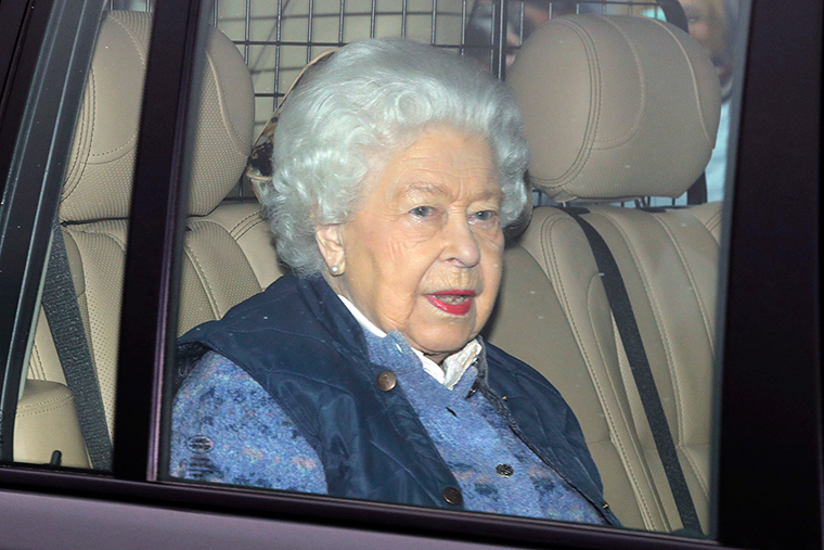 Queen Elizabeth leaves Buckingham Palace for Windsor Castle to socially distance herself amid the coronavirus pandemic, in London, Thursday, March 19.