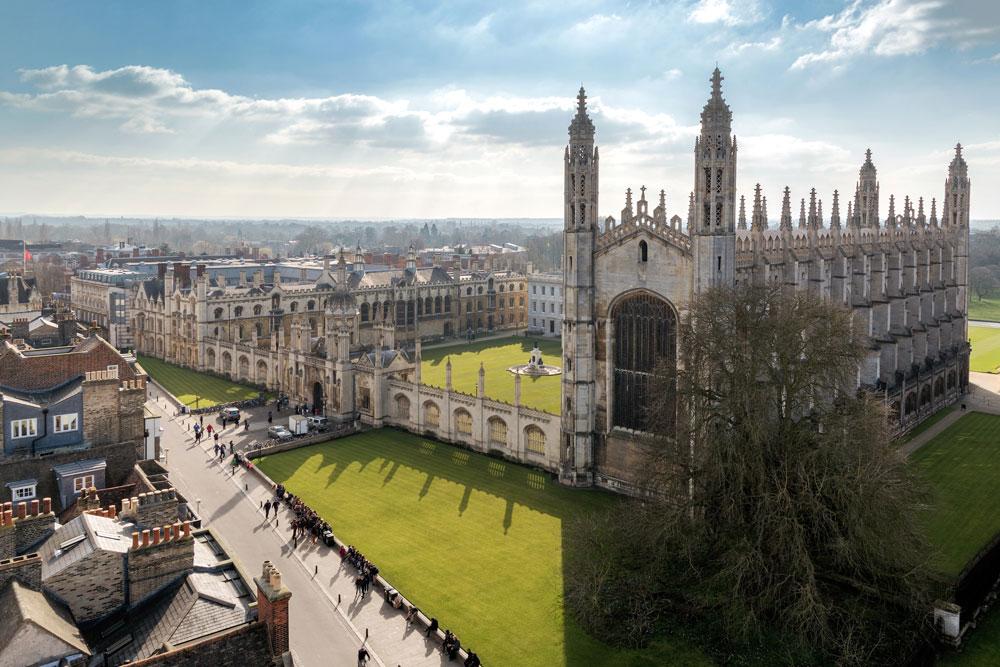 Cambridge University in England.