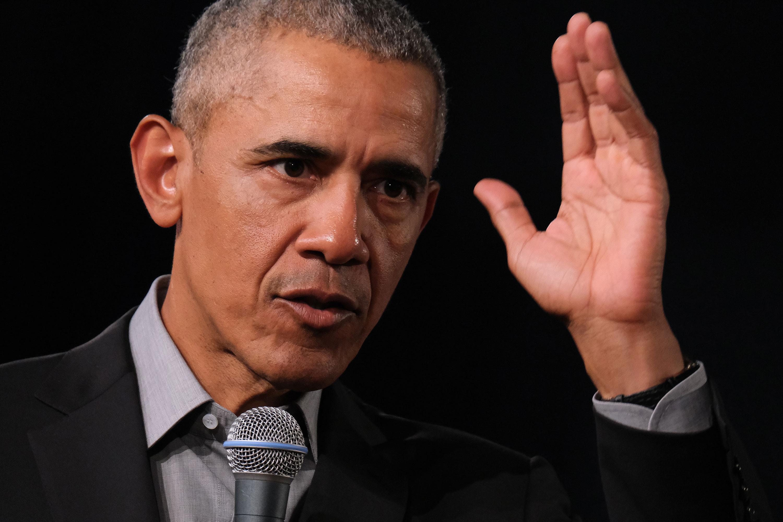 Barack Obama speaks in 2019.