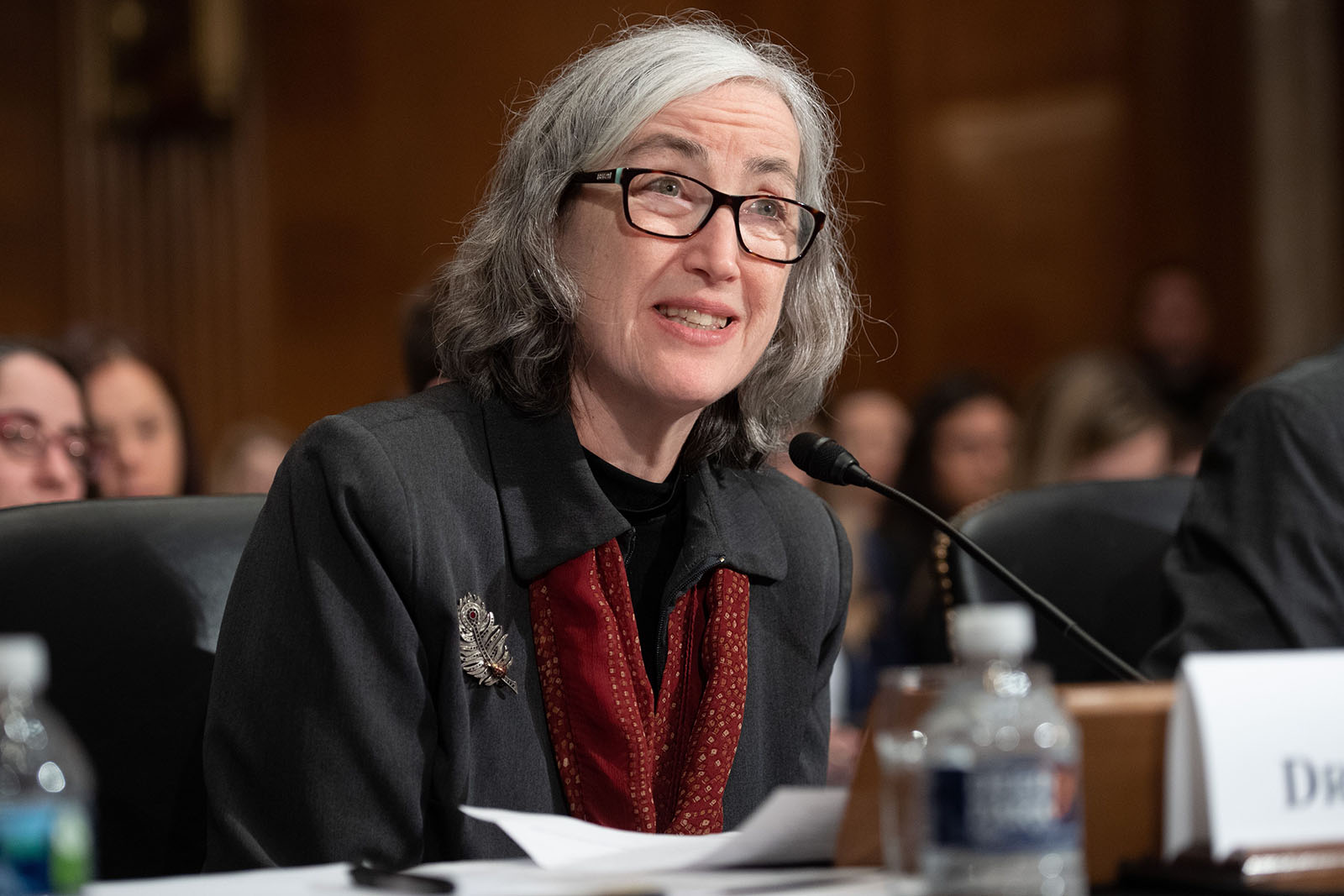 Dr. Anne Schuchat, principal deputy director of the CDC, testifies about the coronavirus during a senate Committee hearing on Health, Education, Labor, and Pensions on Capitol Hill in Washington on March 3.