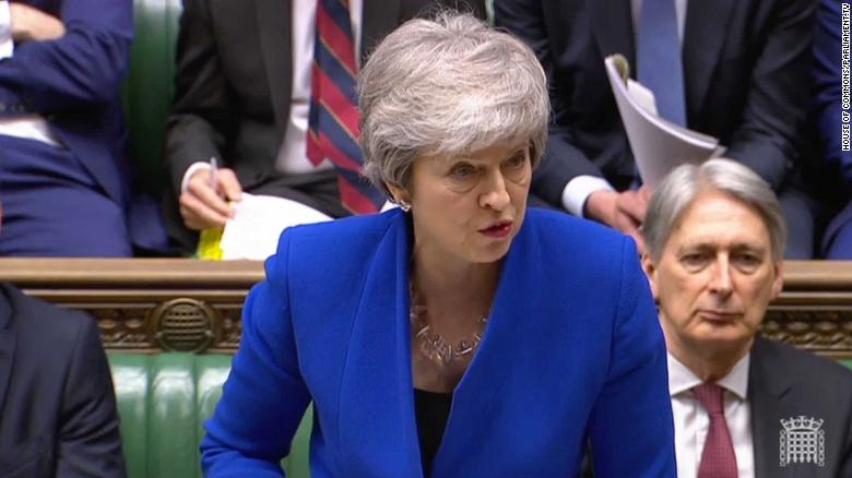 PM May addresses the House on Wednesday lunchtime.
